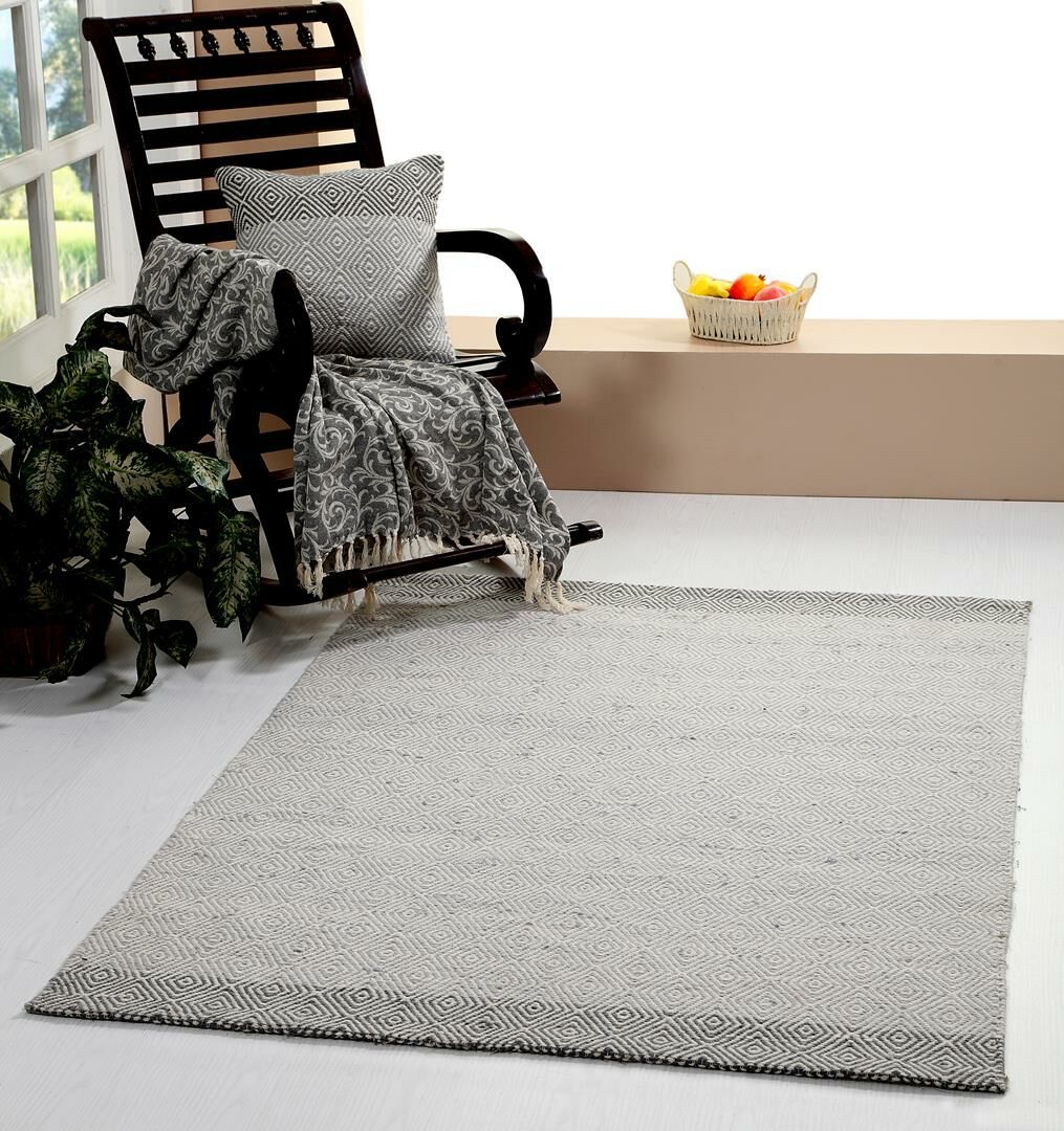 One-of-a-Kind Prevatte Hand Woven Gray Are Rug Rug Size: Rectangle 5'2