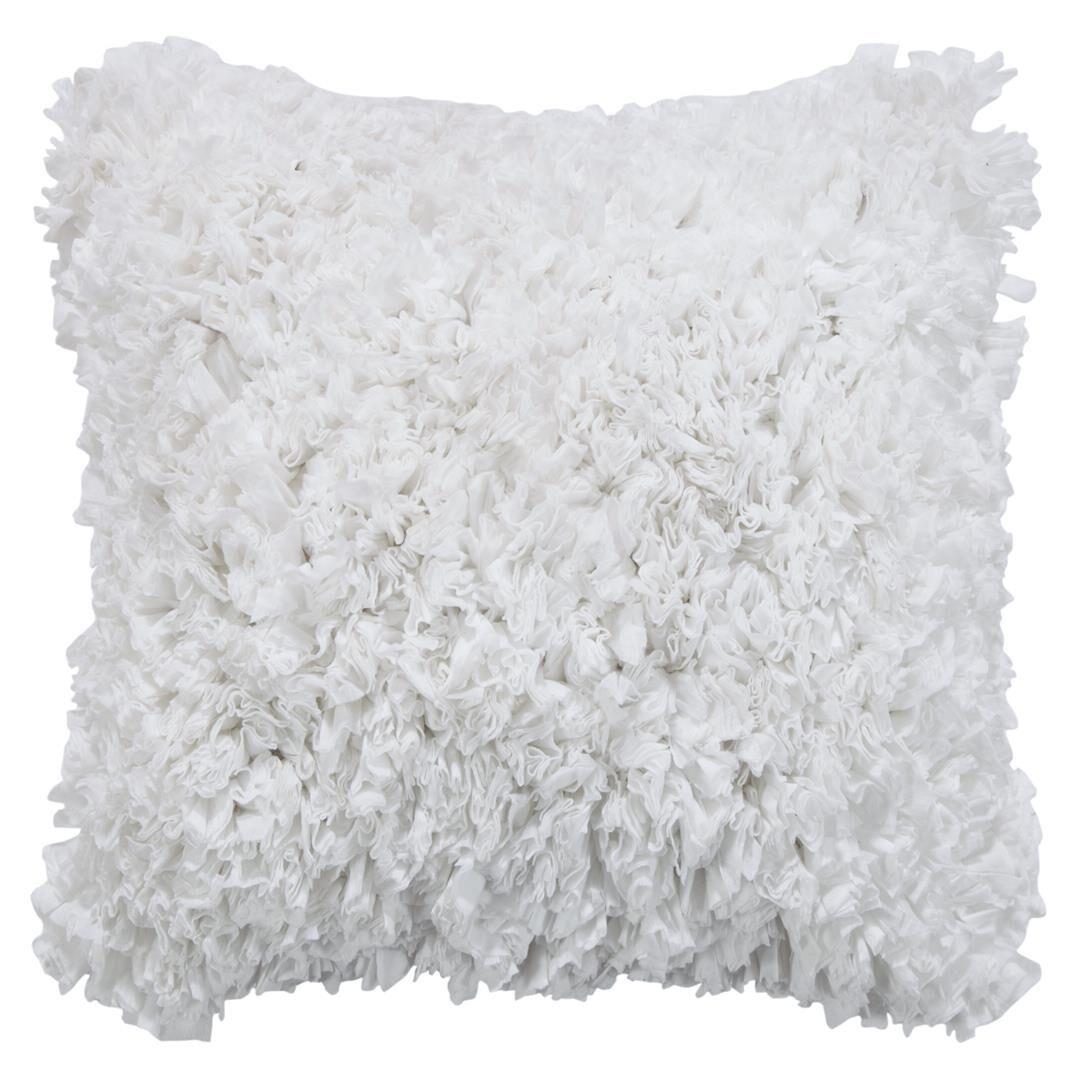 Gaeta Paper Shag Tissue Throw Pillow Color: White