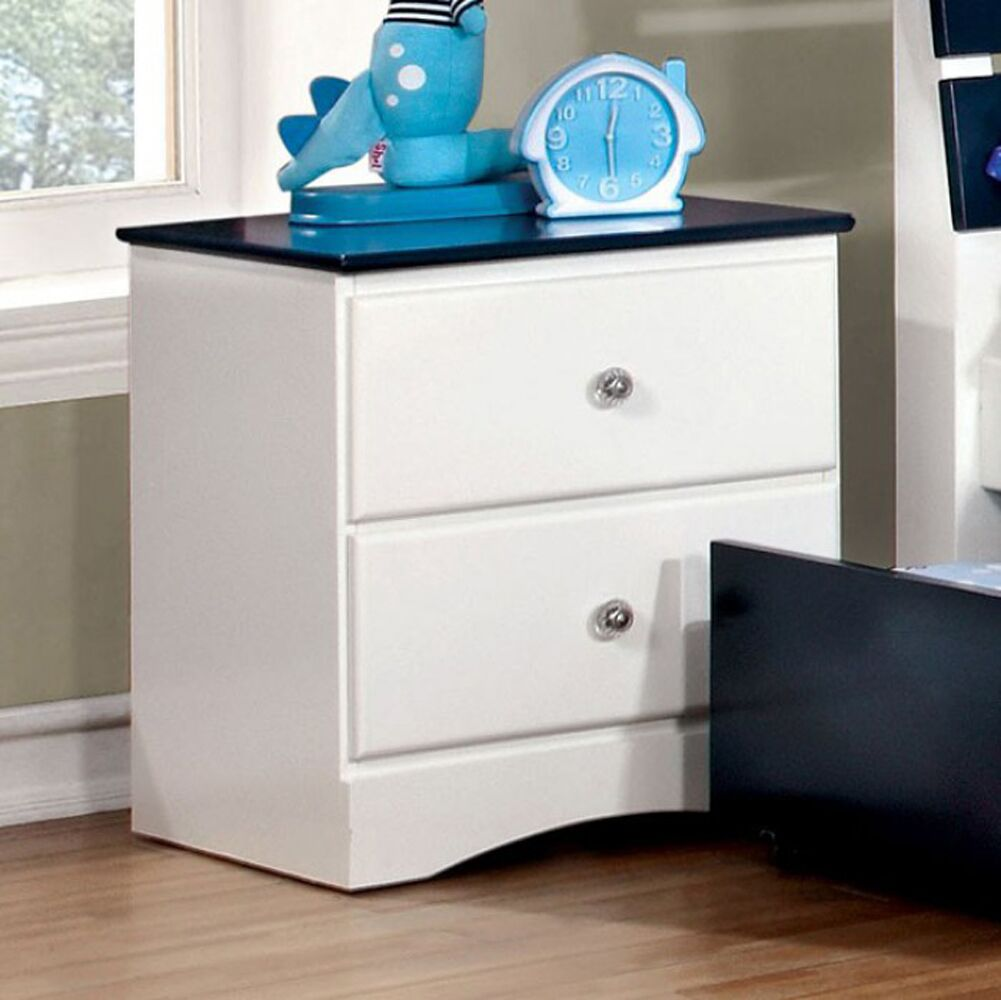 Phinney 2 Drawer Nightstand Color: White/Black