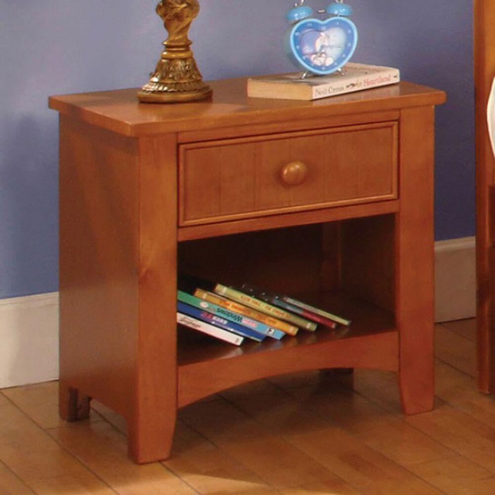Reaves Wood 1 Drawer Nightstand Color: Brown
