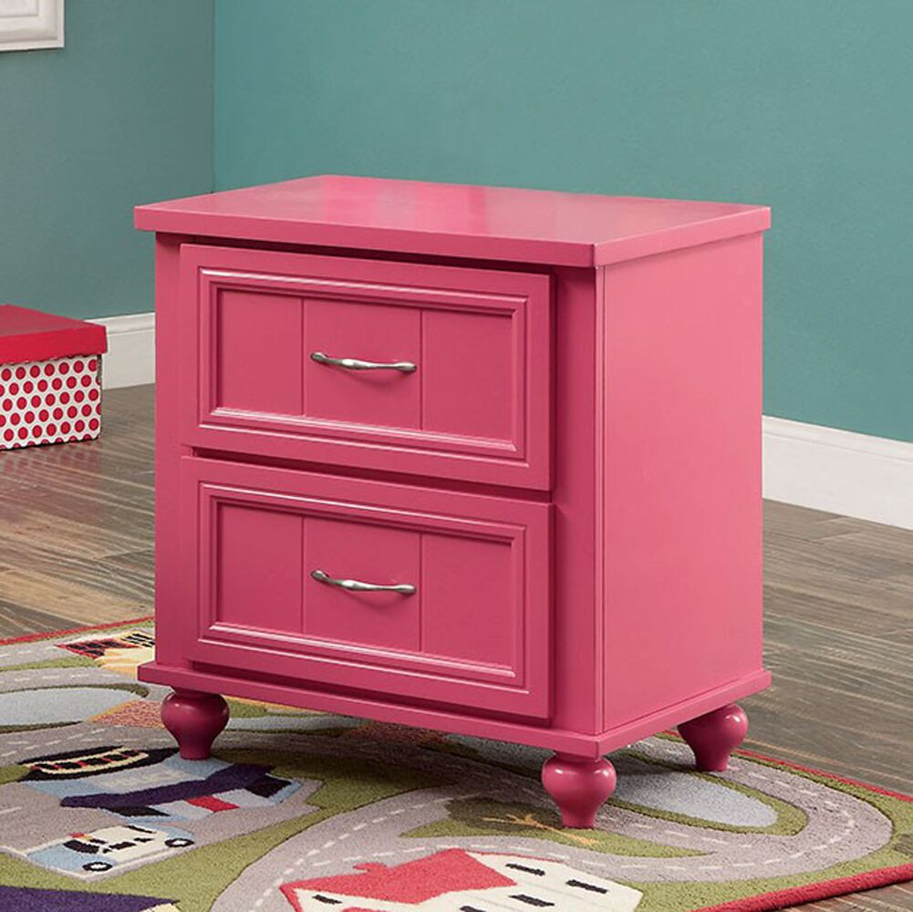 Kerlin 2 Drawer Nightstand Color: Pink