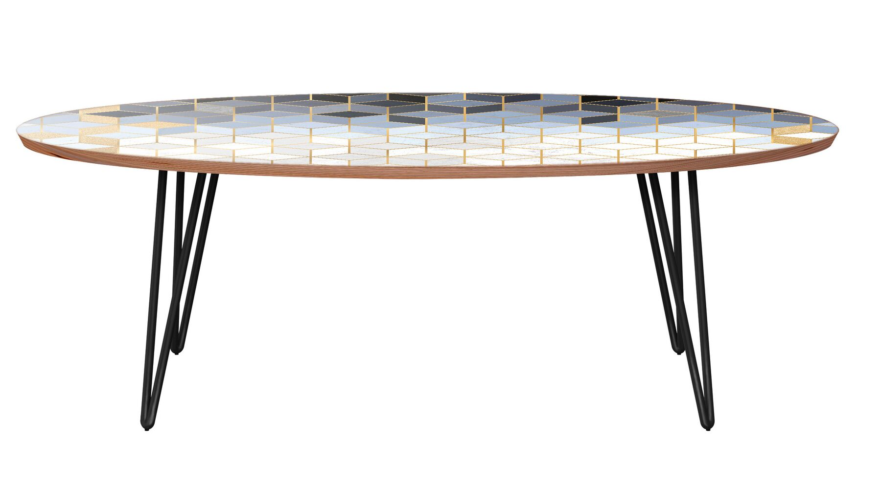 Twigg Coffee Table Table Base Color: Black, Table Top Color: Walnut