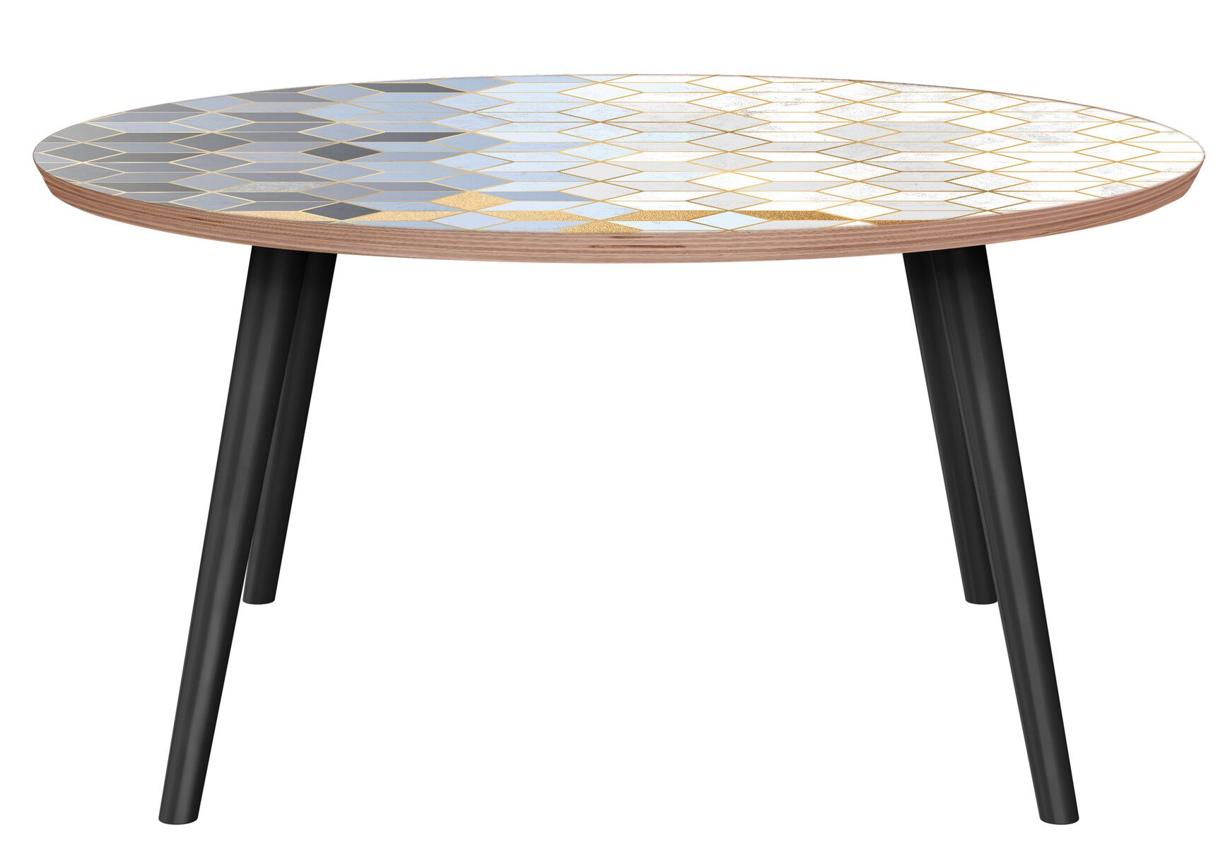 Gracey Coffee Table Table Base Color: Black, Table Top Color: Walnut