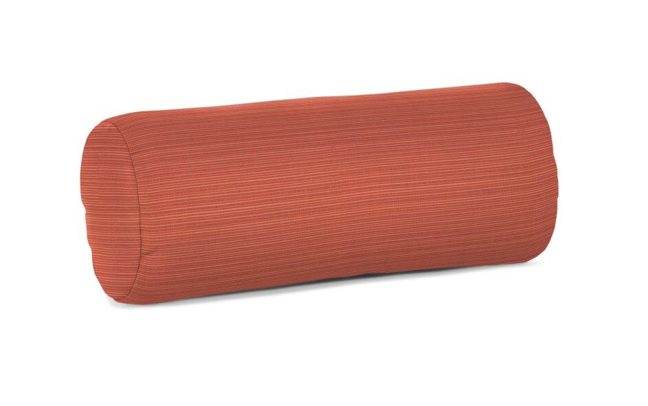 Steven Sunbrella Outdoor Bolster Pillow Color: Dupione Papaya