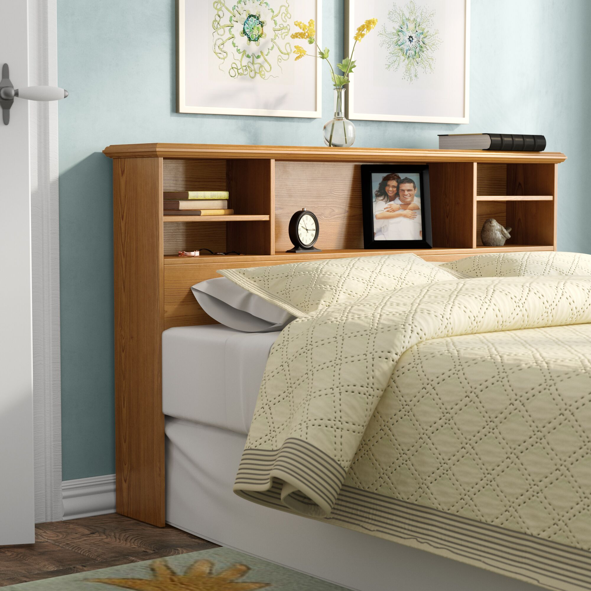 Leith Hills Bookcase Headboard Size: Full / Queen
