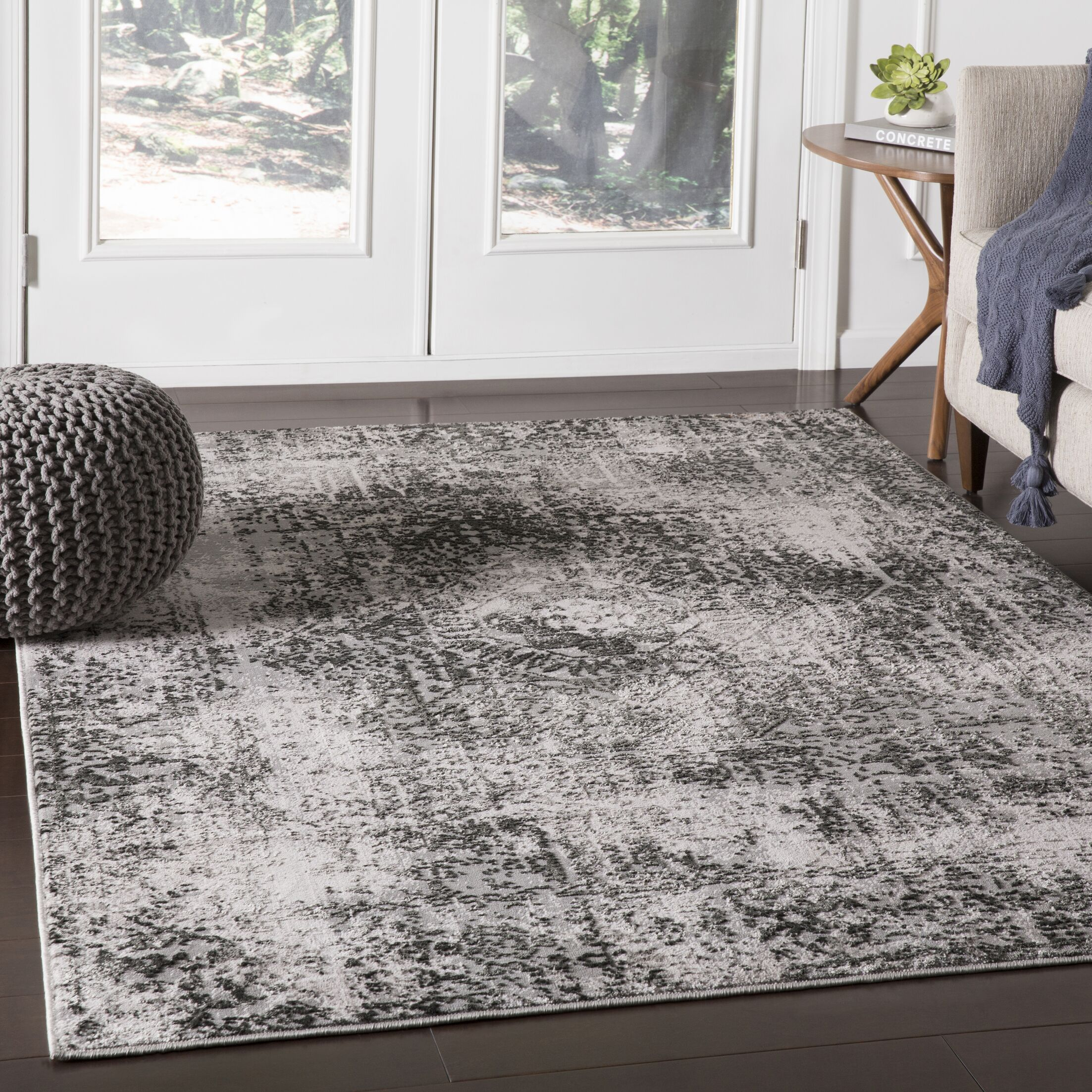 Parramore Oriental Black Area Rug Rug Size: Rectangle 9'3