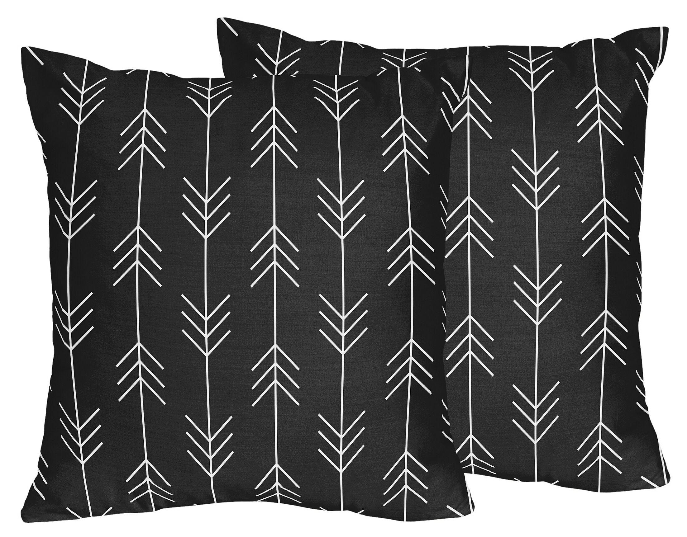 Rustic Patch Arrow Throw Pillows