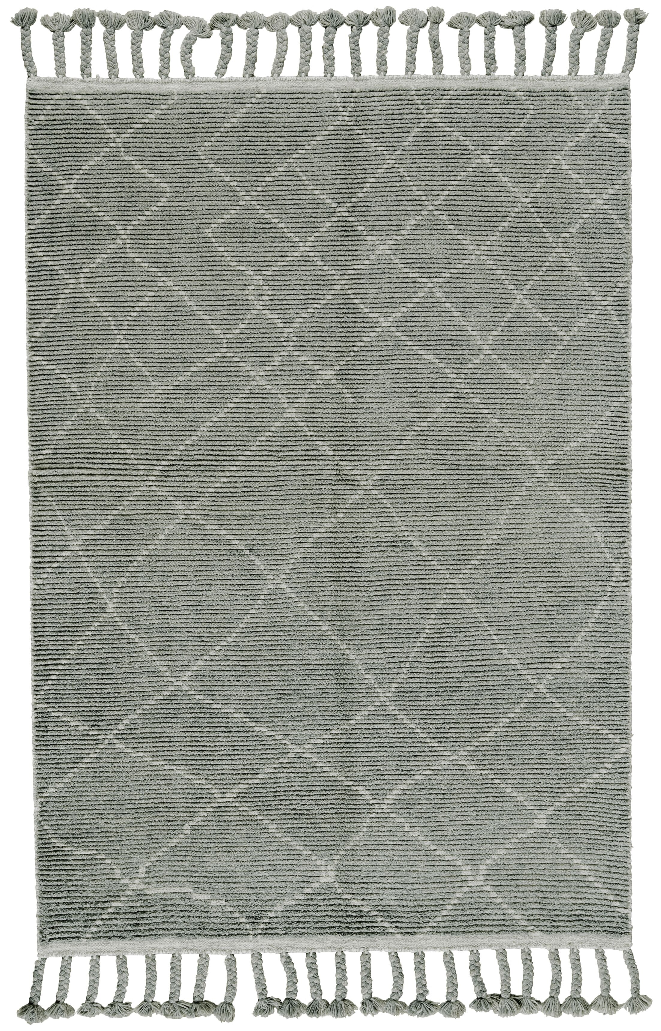 Rego Hand-Knotted Wool Ash Area Rug Rug Size: Rectangle 4' x 6'