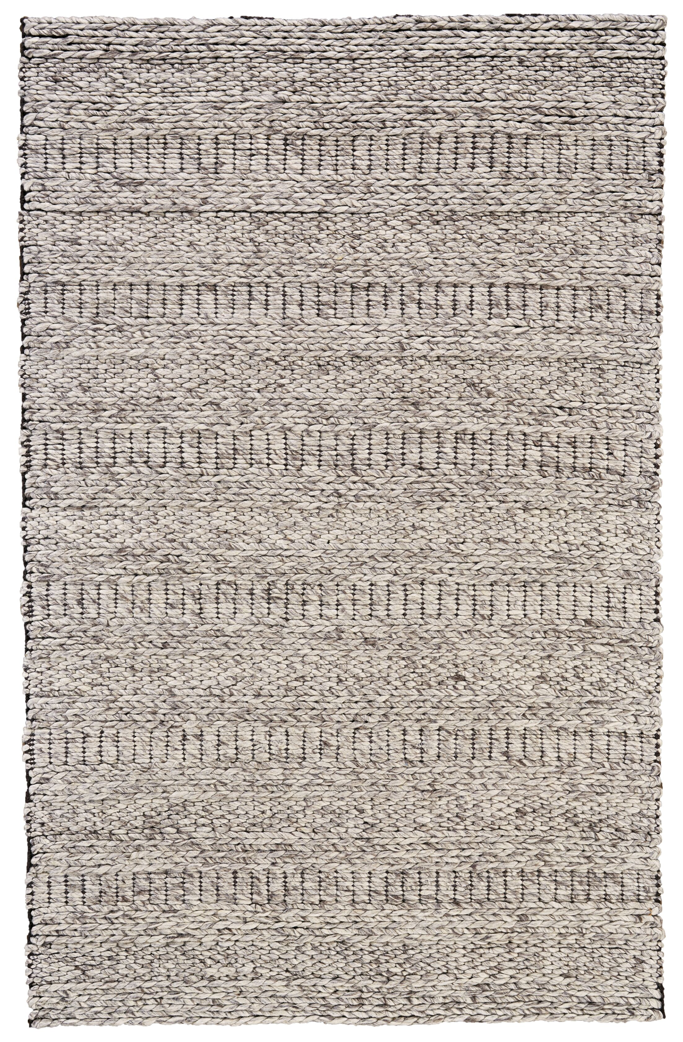 Mcmurry Hand-Woven Wool Oatmeal Area Rug Rug Size: Rectangle 5' x 8'