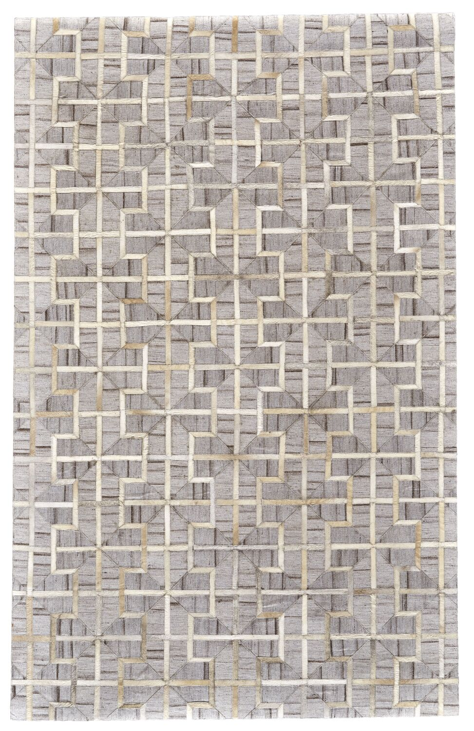 Grossi Hand-Woven Ivory/Sand Area Rug Rug Size: Rectangle 5' x 8'