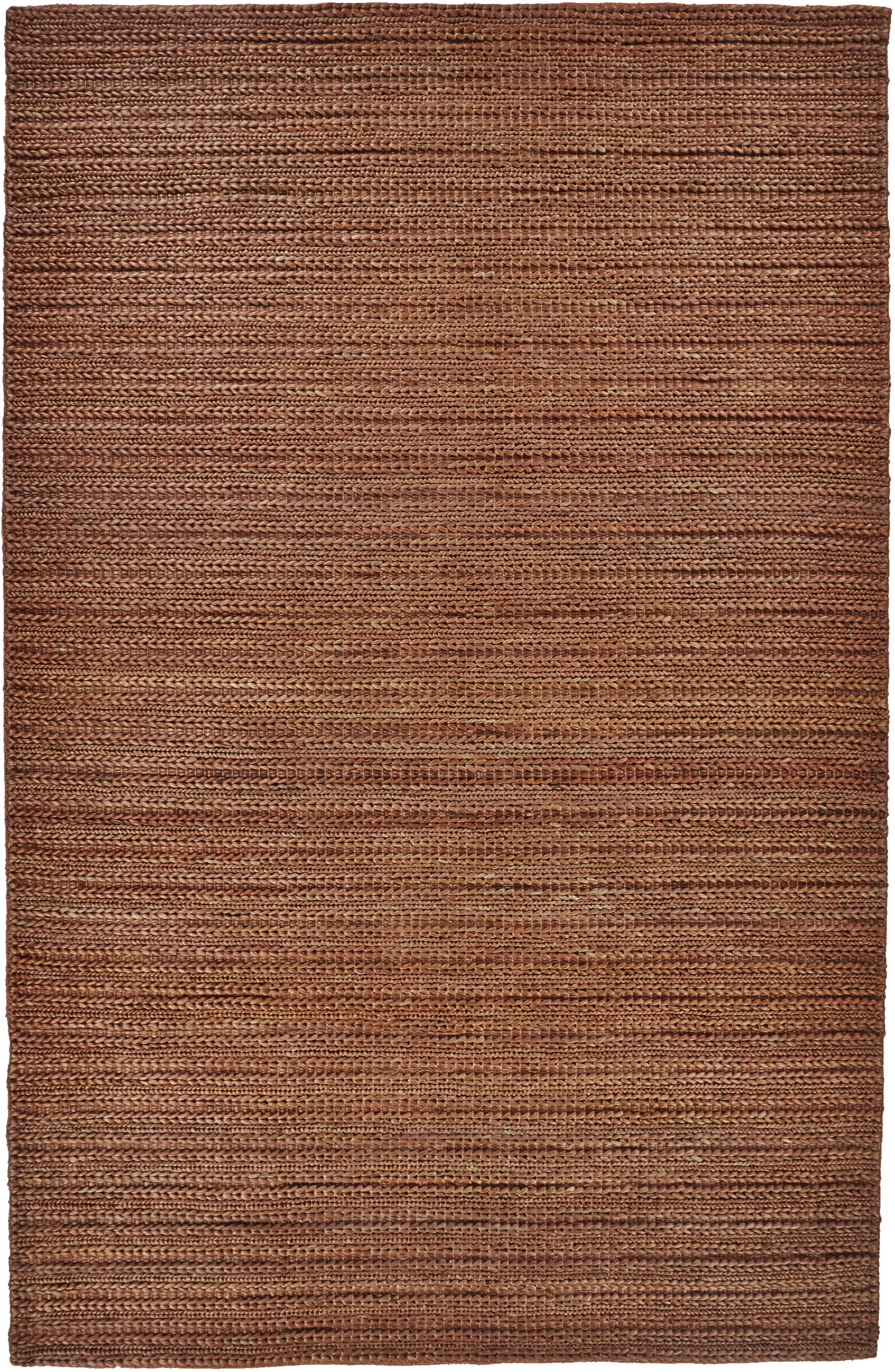 Riaria Hand-Woven Rust Area Rug Rug Size: Rectangle 8' x 11'
