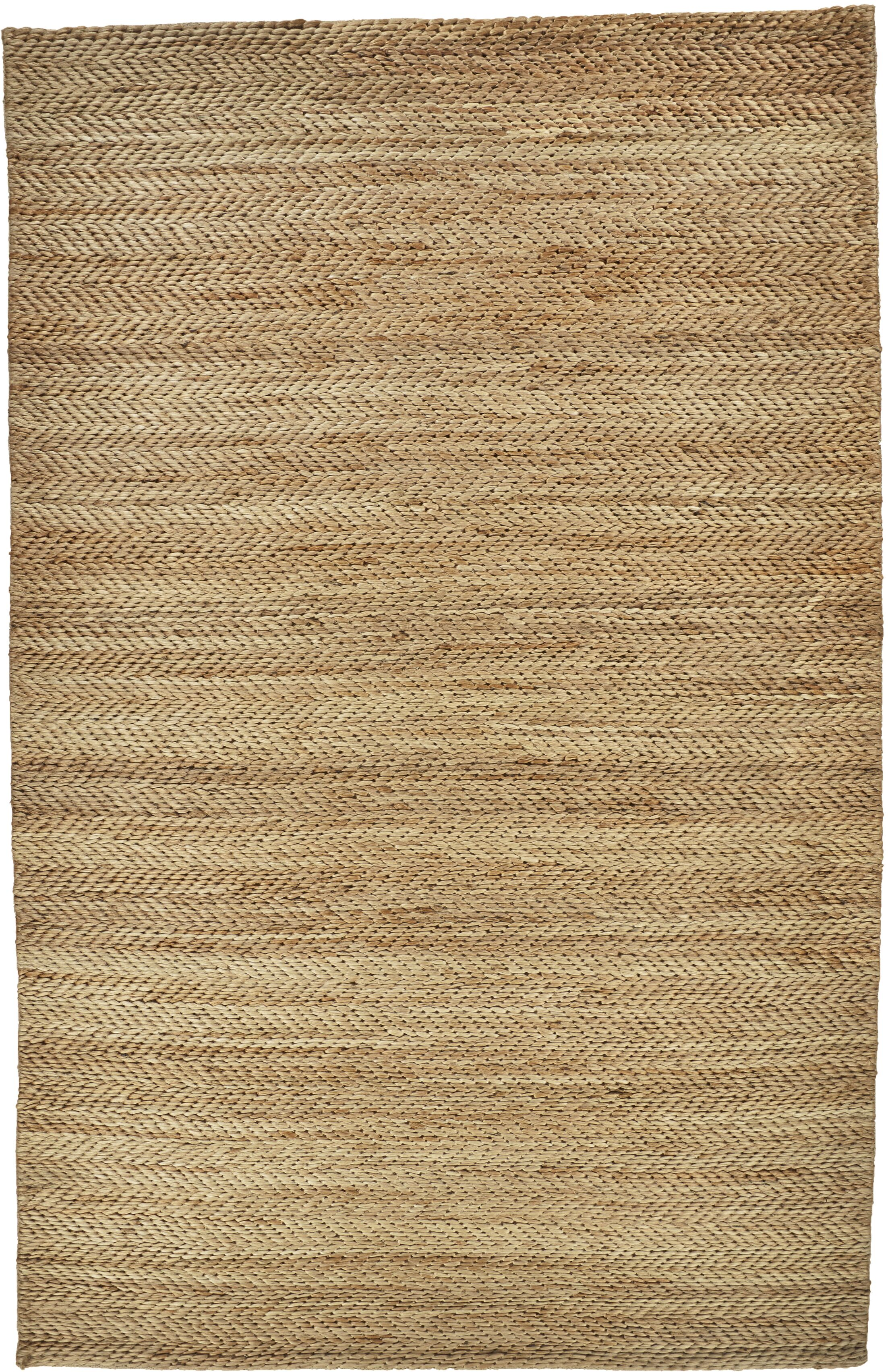 Riaria Hand-Woven Brown Area Rug Rug Size: Rectangle 4' x 6'