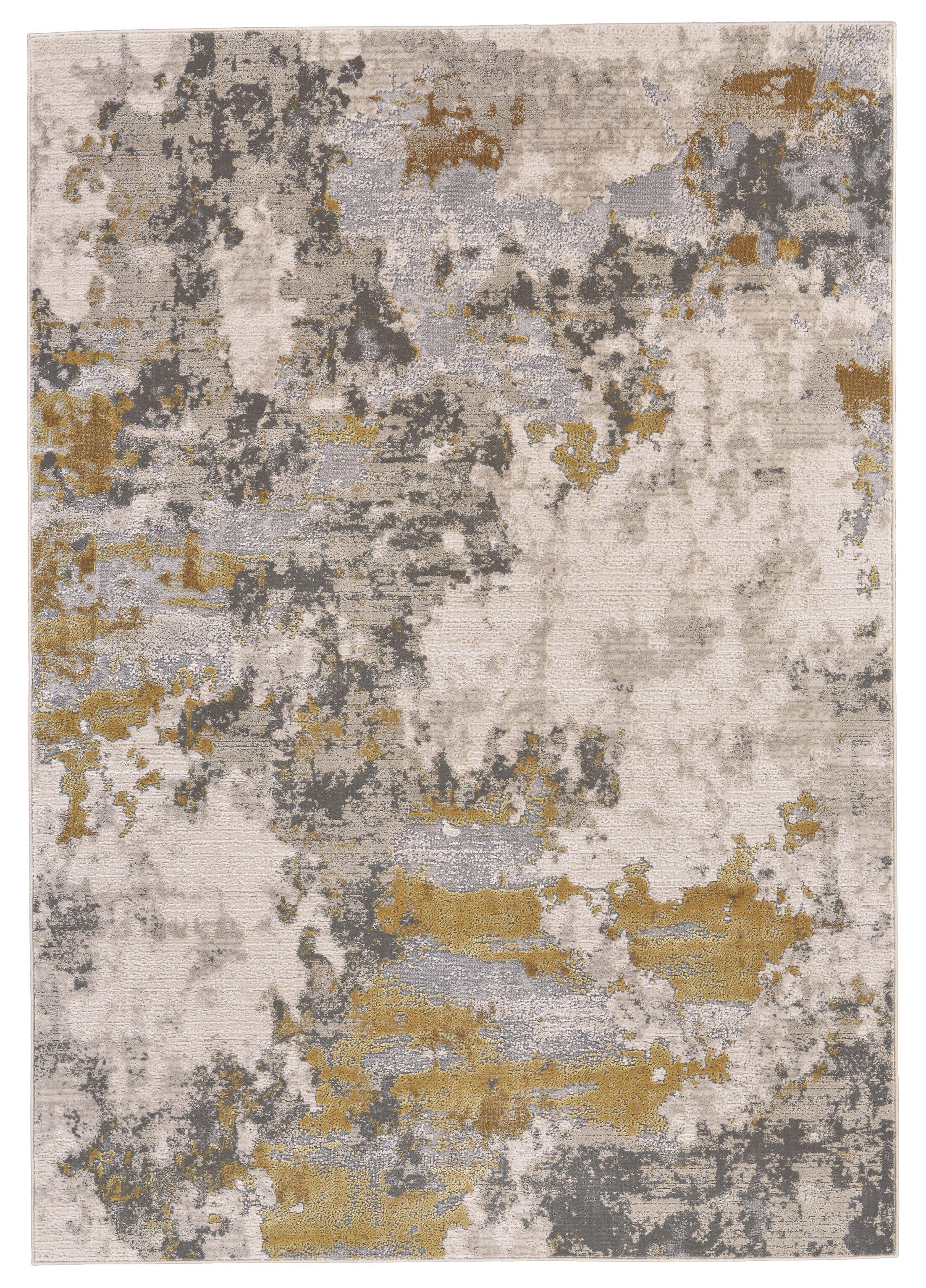 Reichenbach Gold/Birch Area Rug Rug Size: Rectangle 8' x 11'