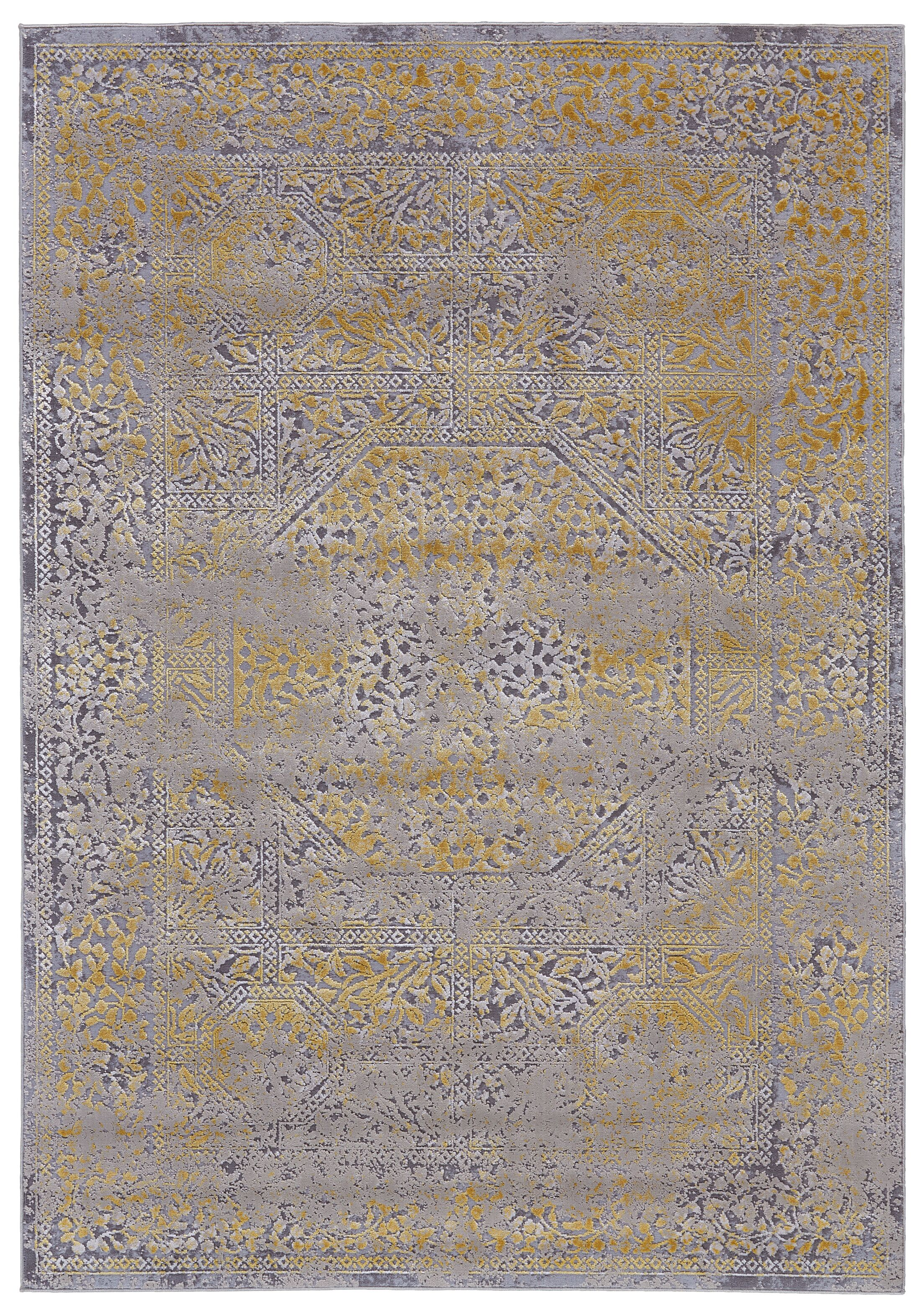 Reichenbach Gold/Sand Area Rug Rug Size: Rectangle 5' x 8'