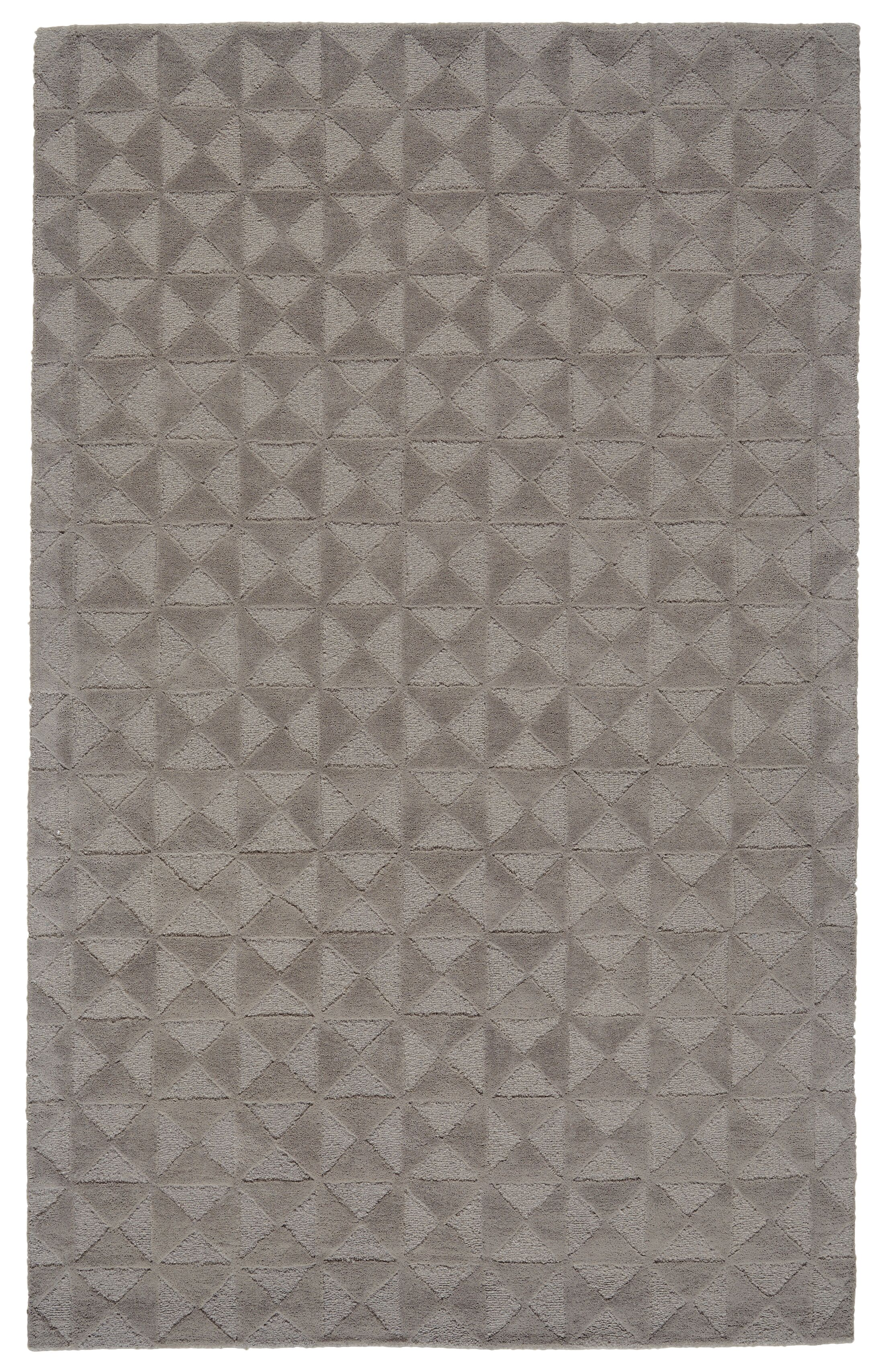 Mcnab Hand-Tufted Wool Cool/Gray Area Rug Rug Size: Rectangle 8' x 11'