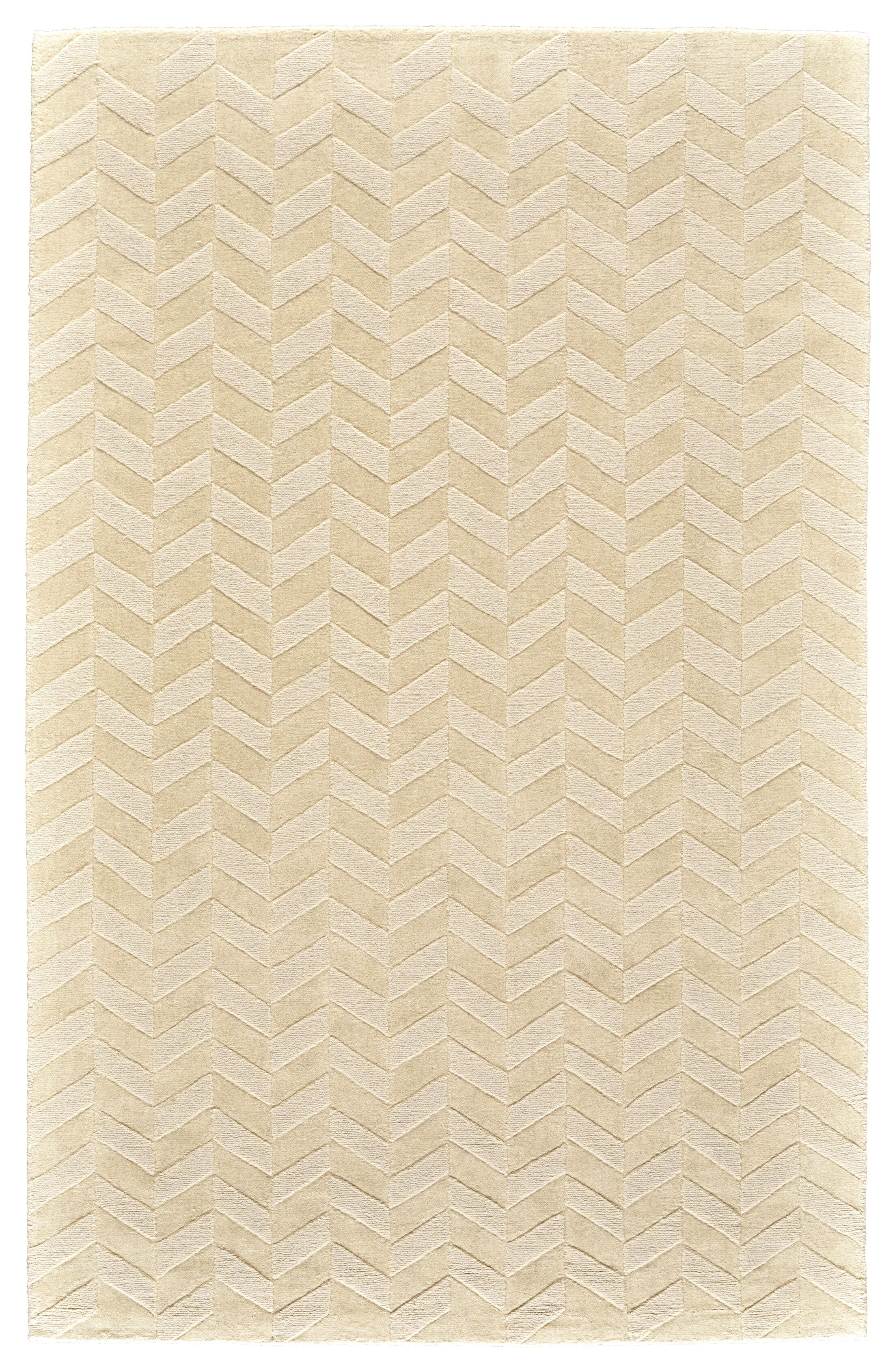 Mcnab Hand-Tufted Wool Ivory Area Rug Rug Size: Rectangle 3'6