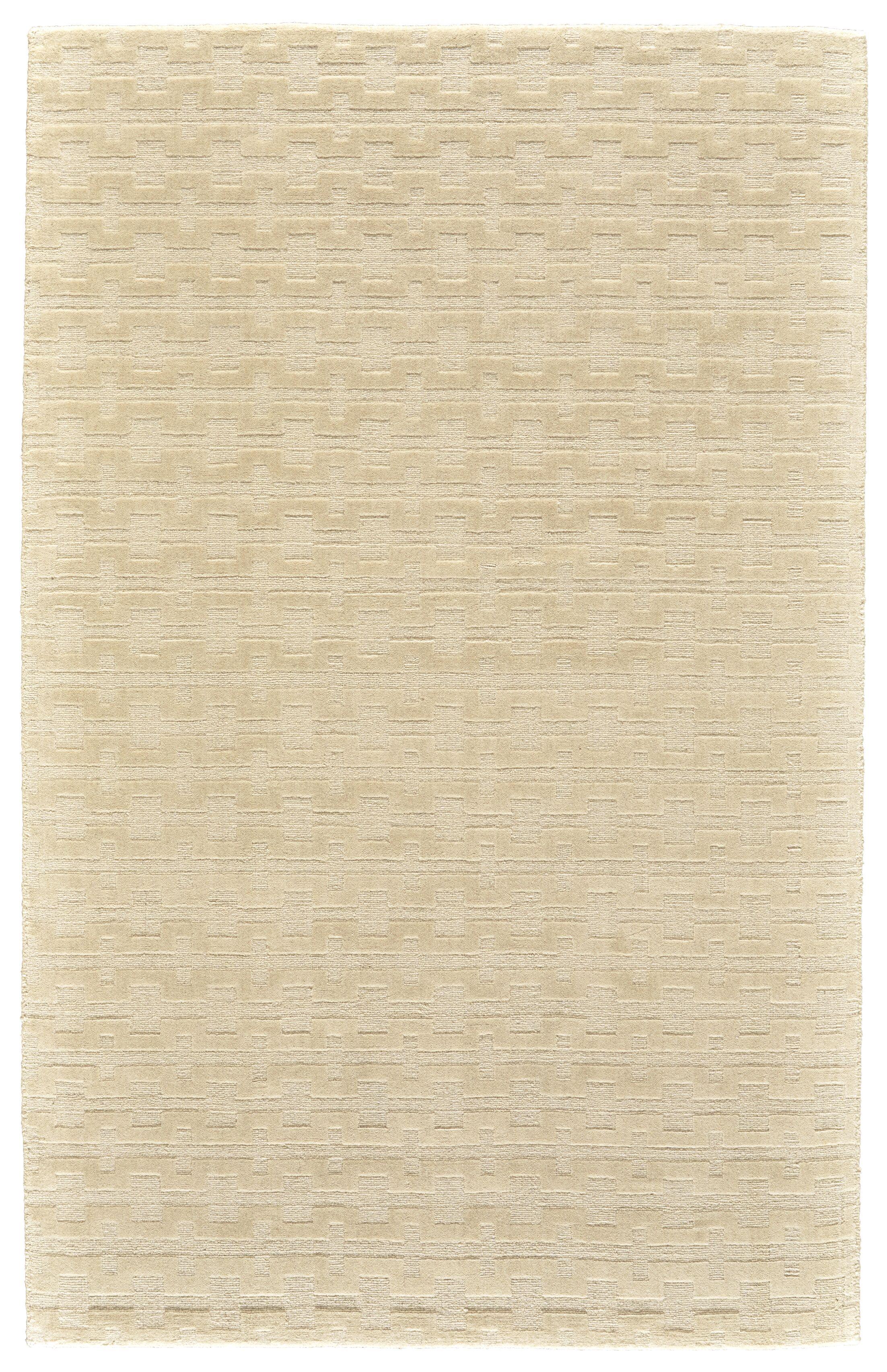 Mcnab Hand-Tufted Wool Cream Area Rug Rug Size: Rectangle 5' x 8'