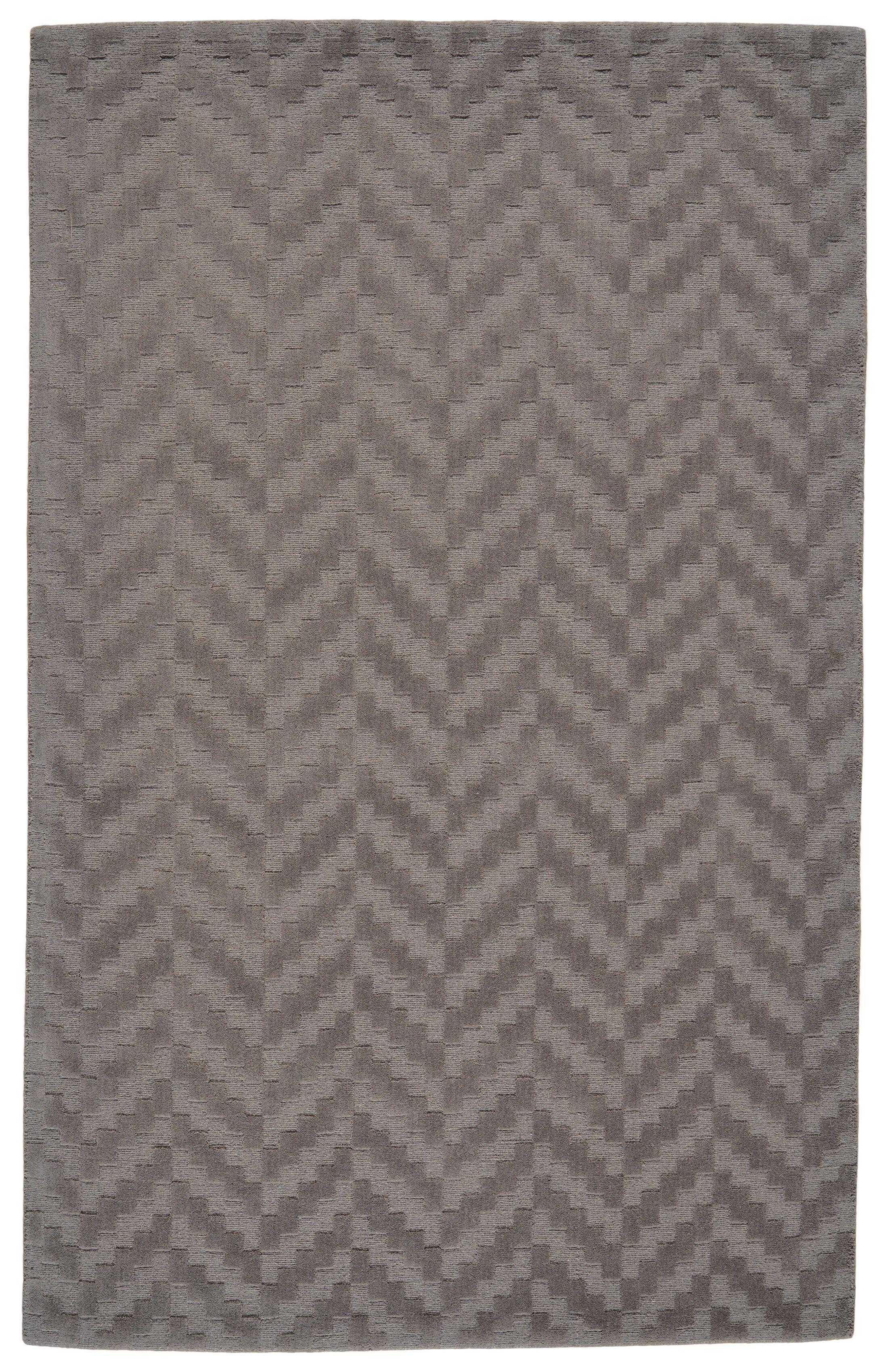 Mcnab Hand-Tufted Wool Slate Area Rug Rug Size: Rectangle 8' x 11'