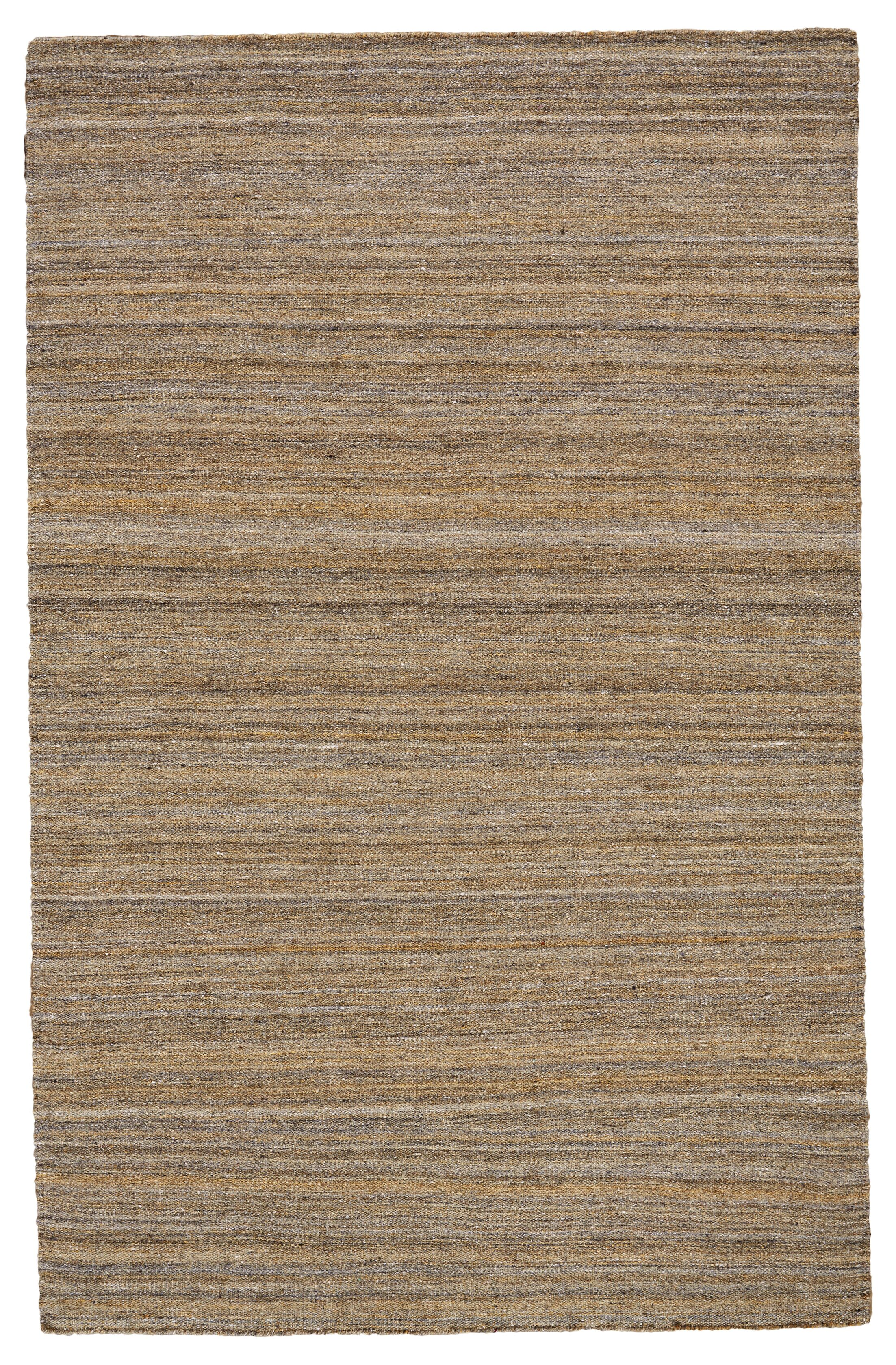 Mcmurtry Hand-Woven Wool Brown Area Rug Rug Size: Rectangle 8' x 10'