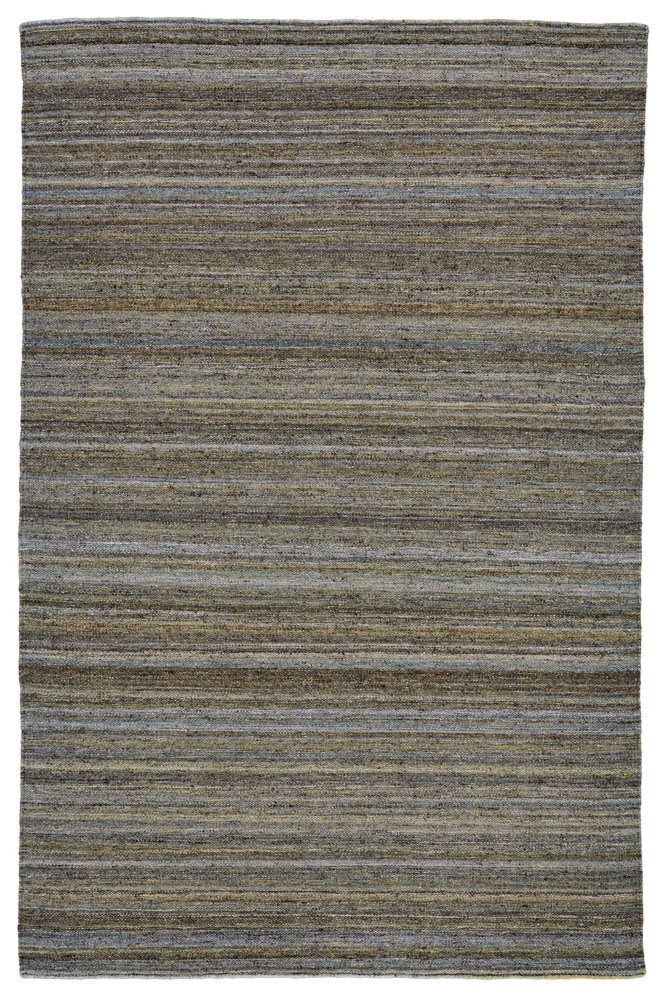 Mcmurtry Hand-Woven Wool Olive Area Rug Rug Size: Rectangle 5' x 8'