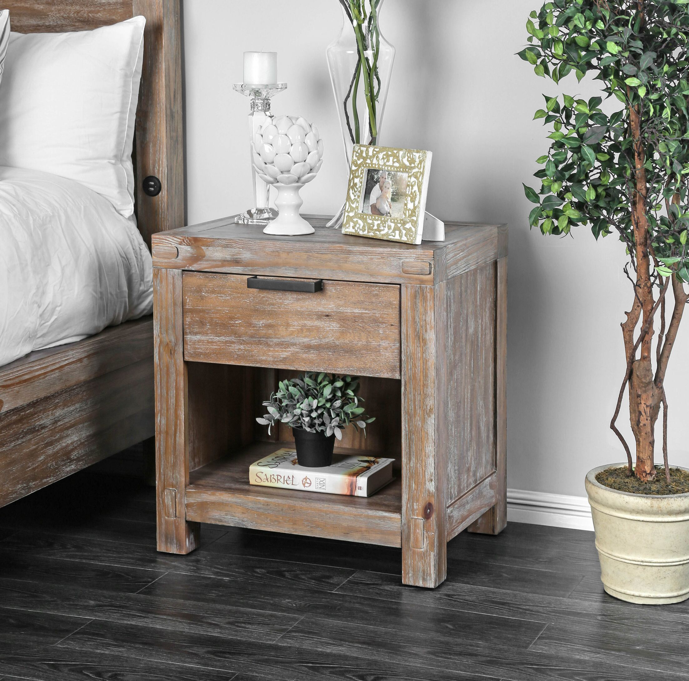 Perez 1 Drawer Nightstand
