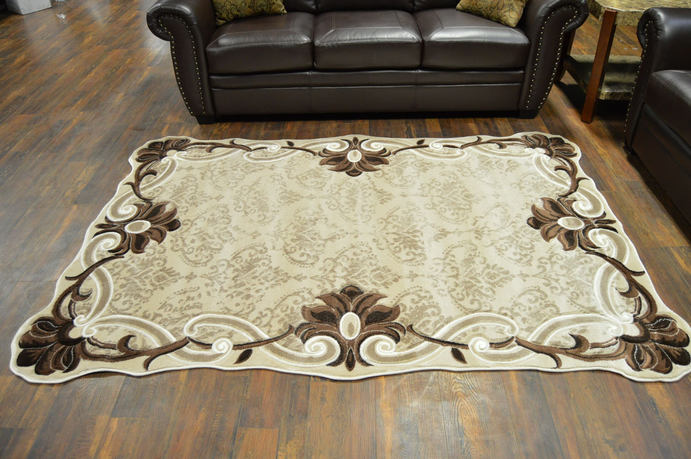 One-of-a-Kind Pawlonka Twist Oriental Beige Area Rug