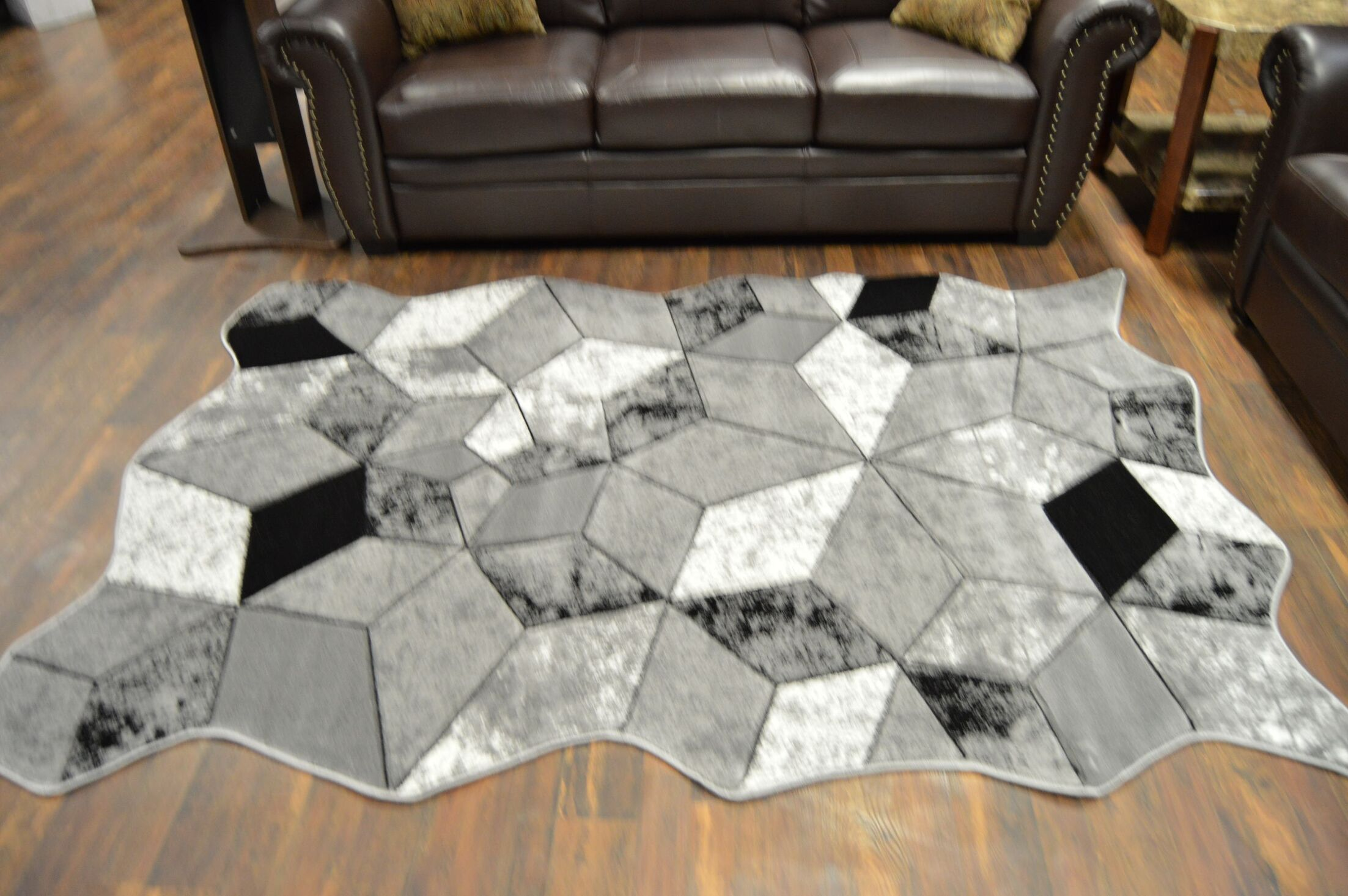 One-of-a-Kind Meier Twist Gray Area Rug