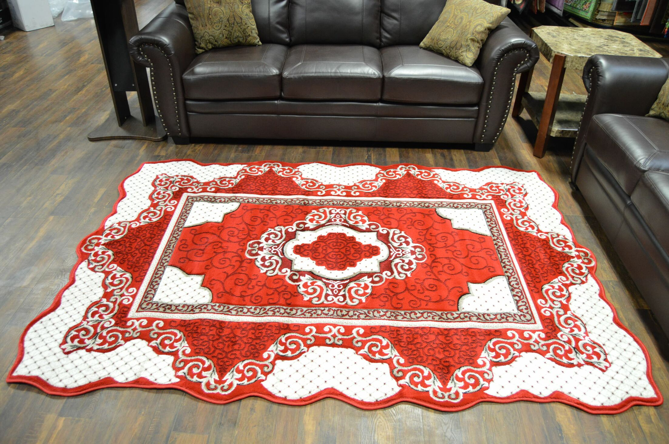 One-of-a-Kind Rath Twist Oriental Red Area Rug