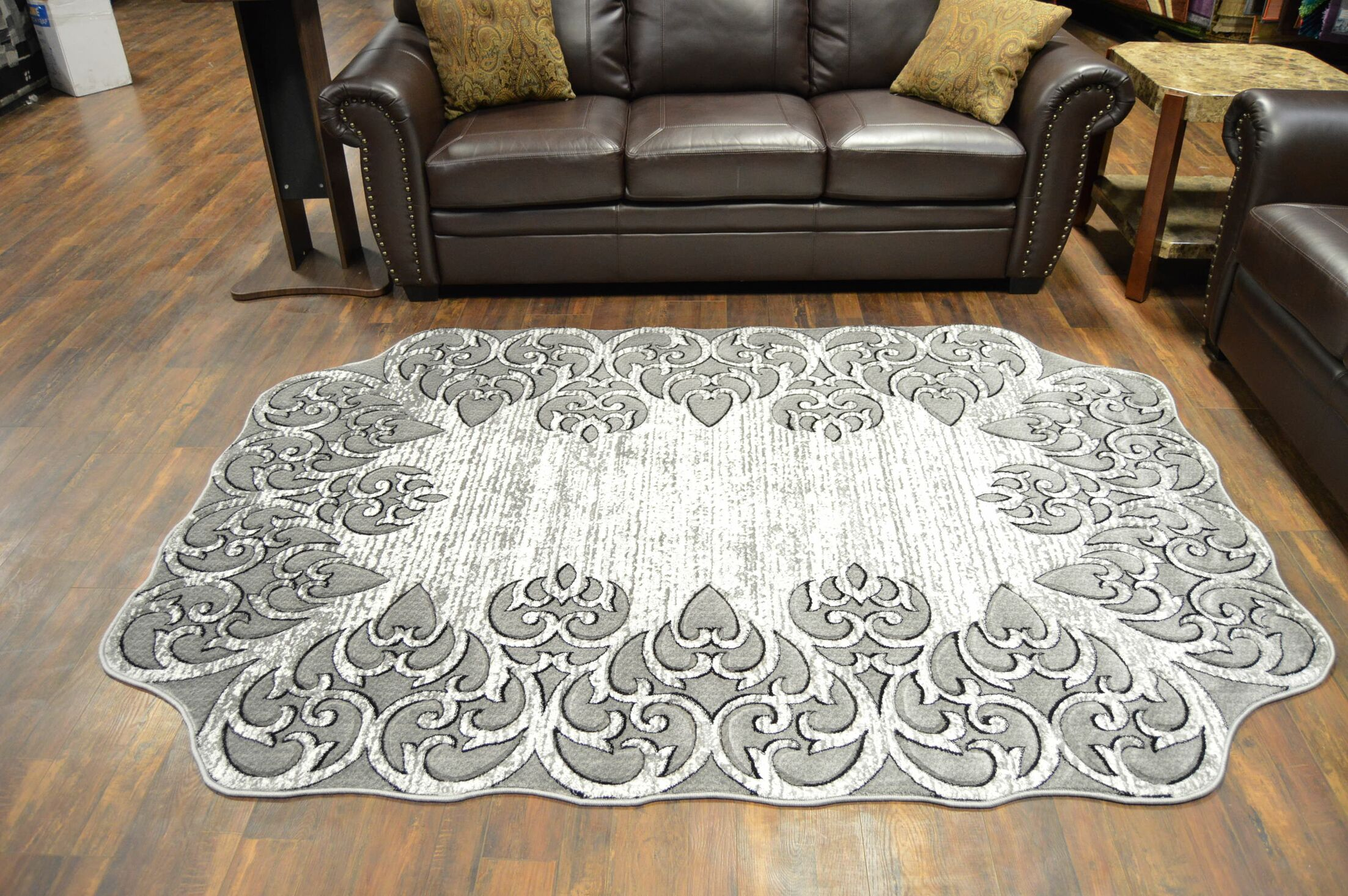 One-of-a-Kind Rath Twist Oriental Gray Area Rug