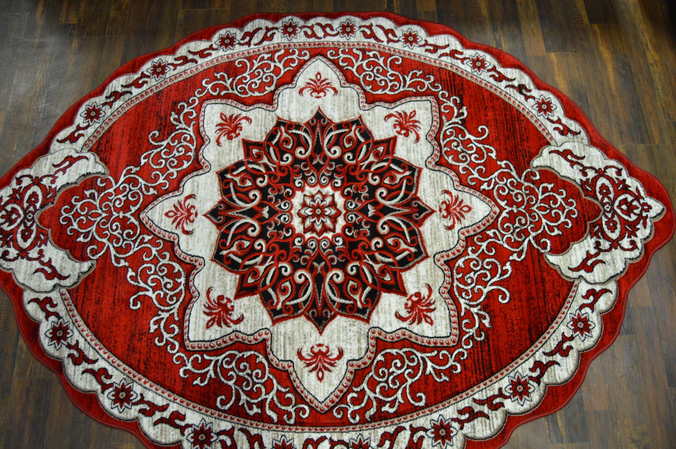 One-of-a-Kind Rath Twist Oriental Red/ Burgandy Area Rug