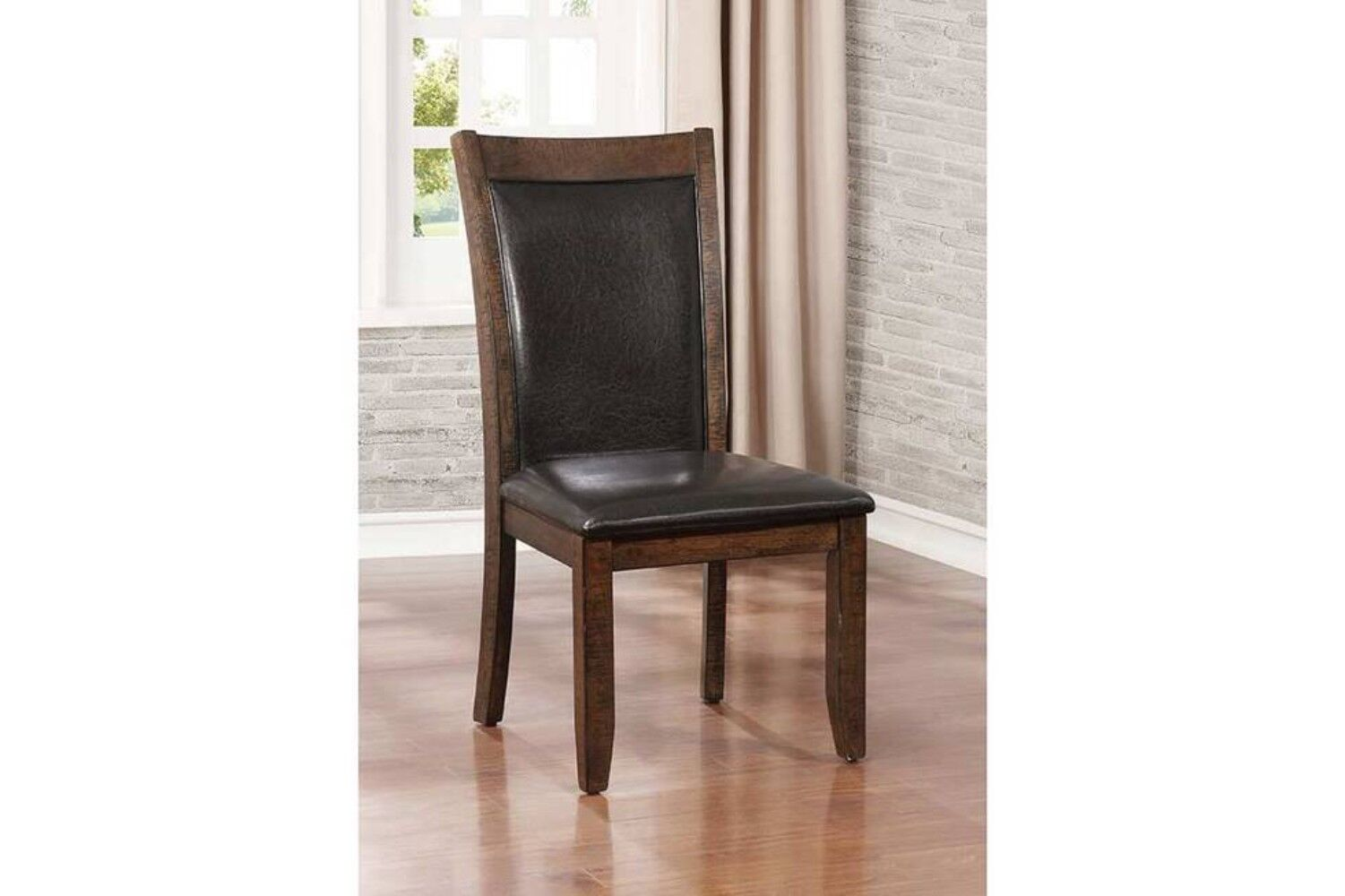 Epperson Wooden Upholstered Dining Chair