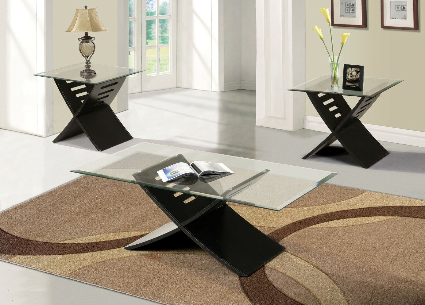 Kommini 3 Piece Coffee Table Set