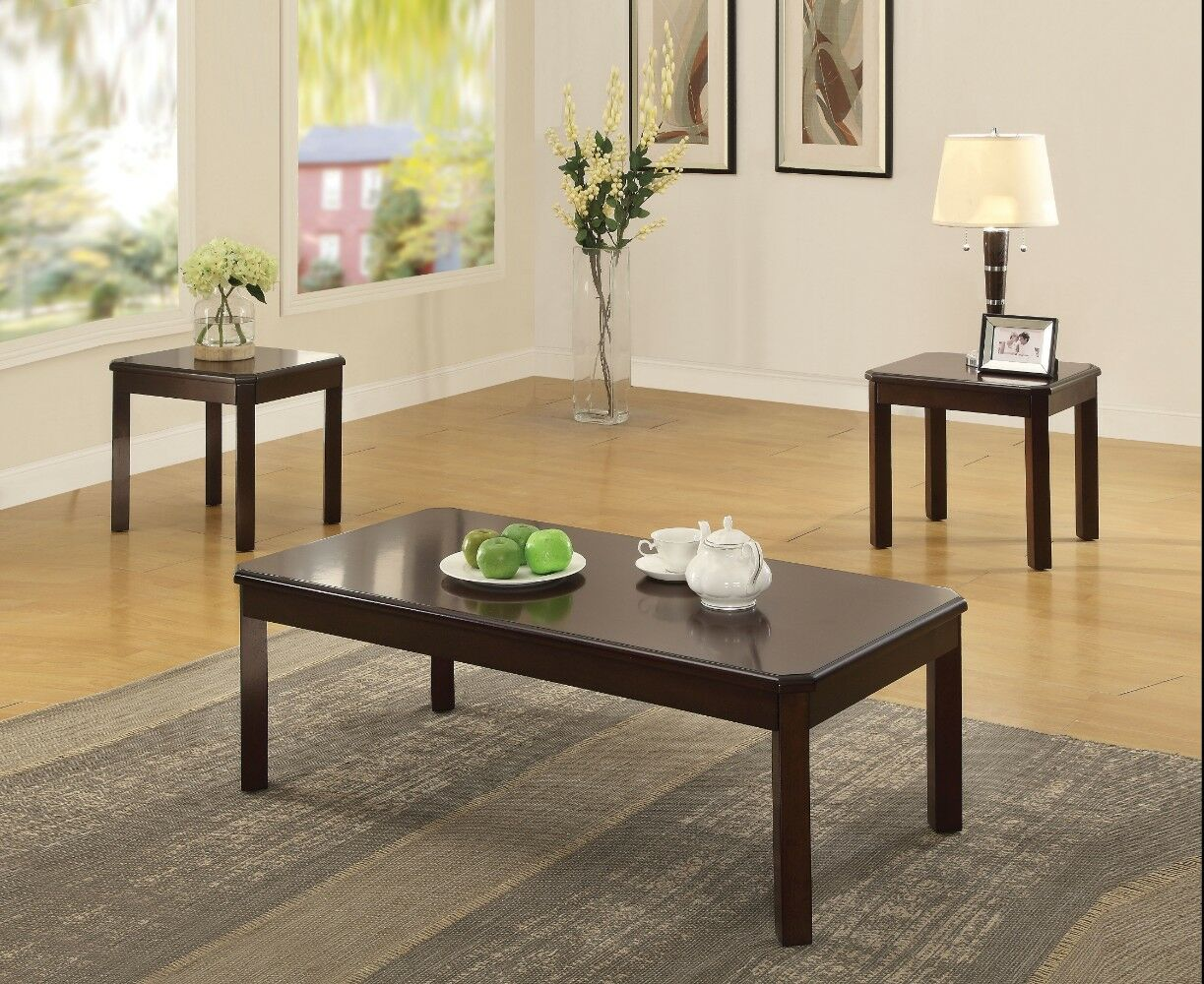Kitson Wooden 3 Piece Coffee Table Set
