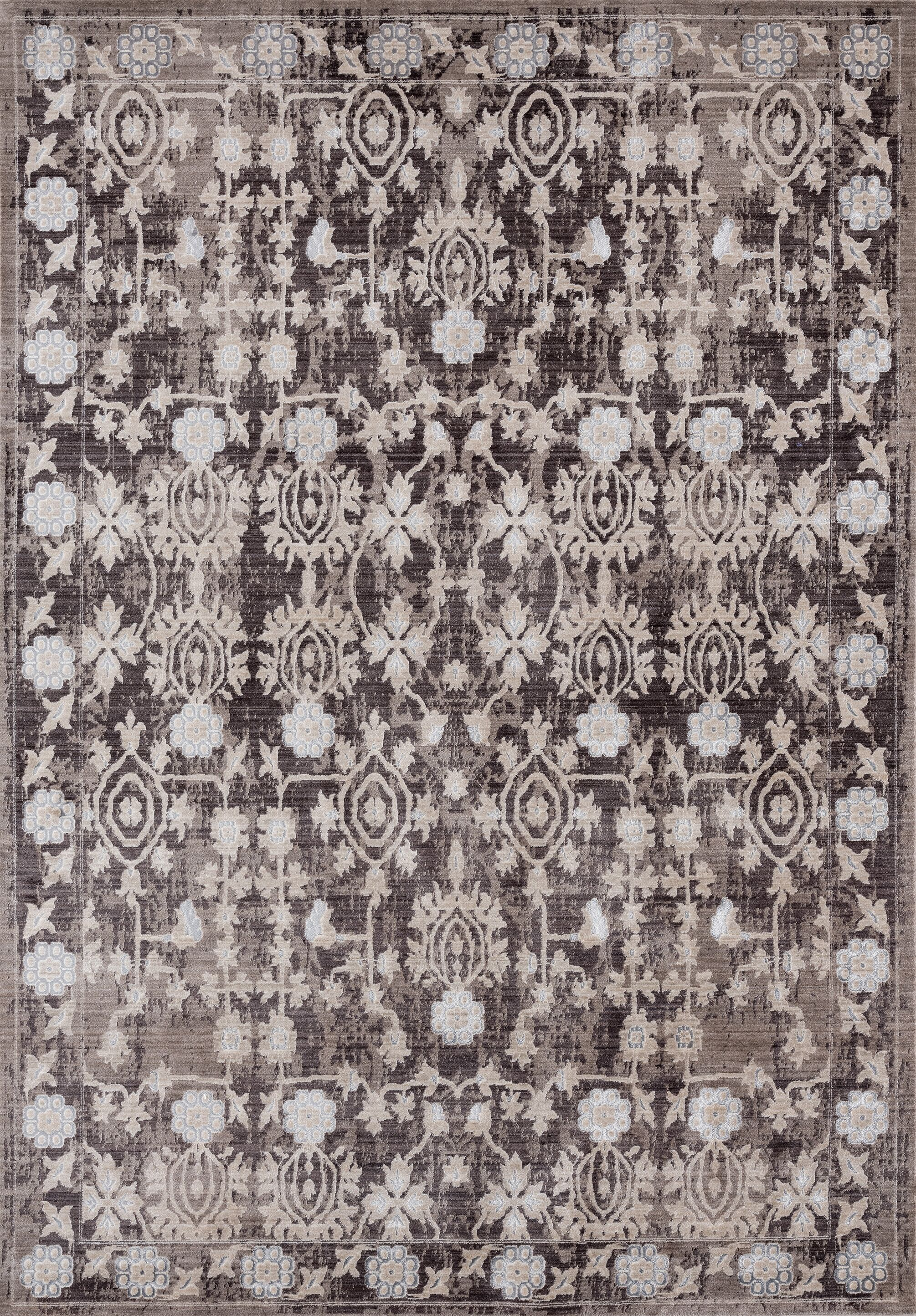 Rummond Taupe/Brown Area Rug Rug Size: Rectangle 12'6