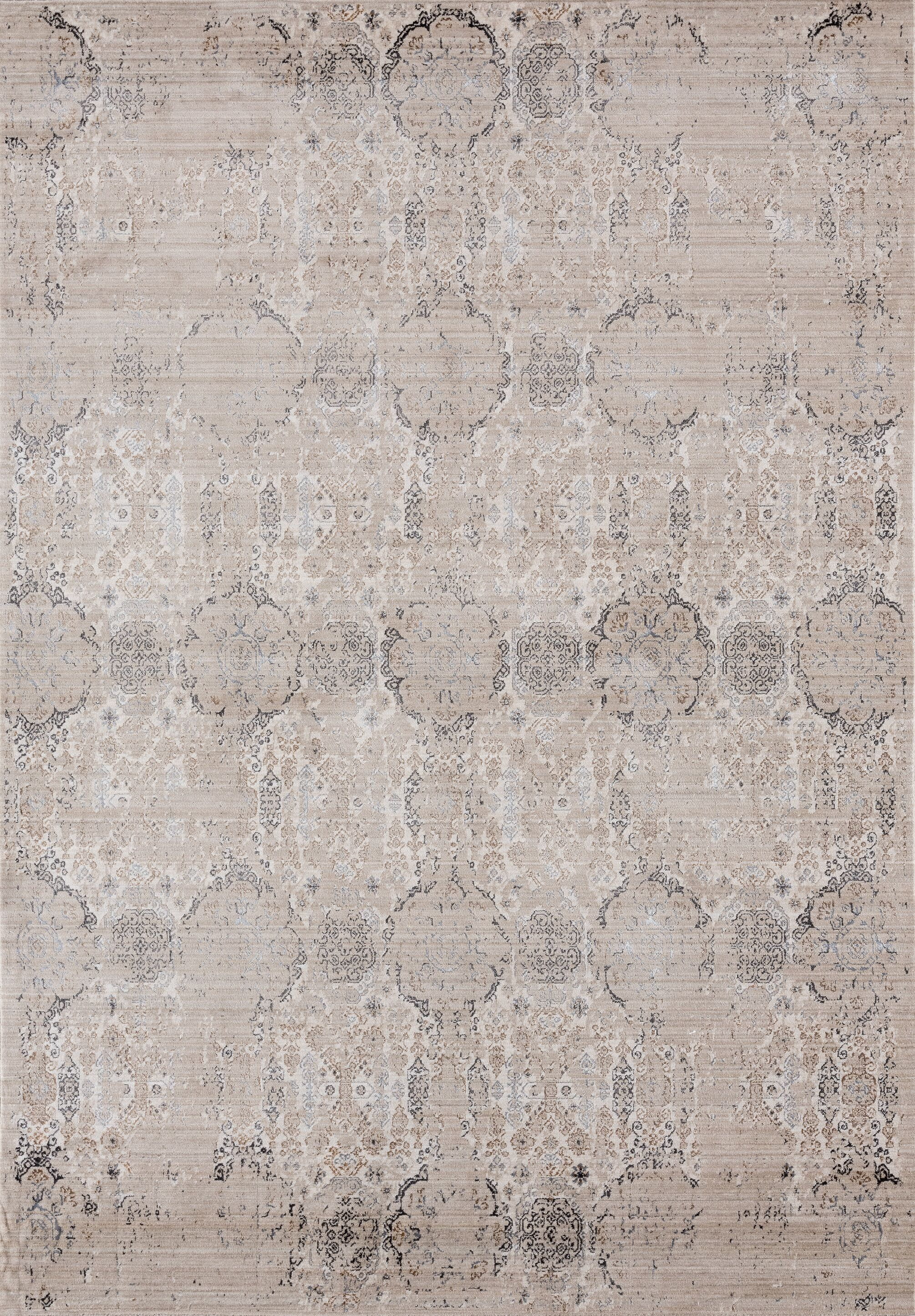 Rummond Light Taupe/Brown Area Rug Rug Size: Rectangle5'4