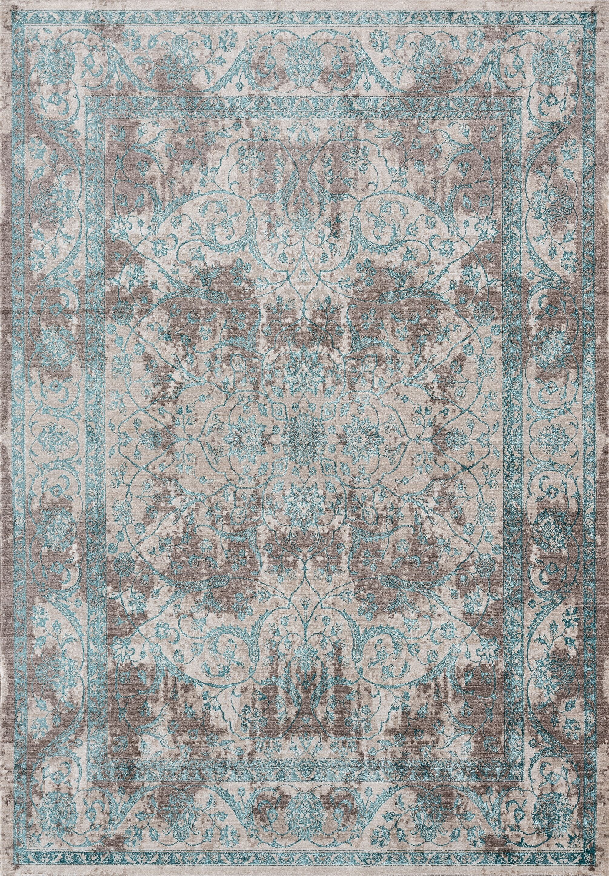 Rummond Blue/Gray Area Rug Rug Size: Rectangle 5'4