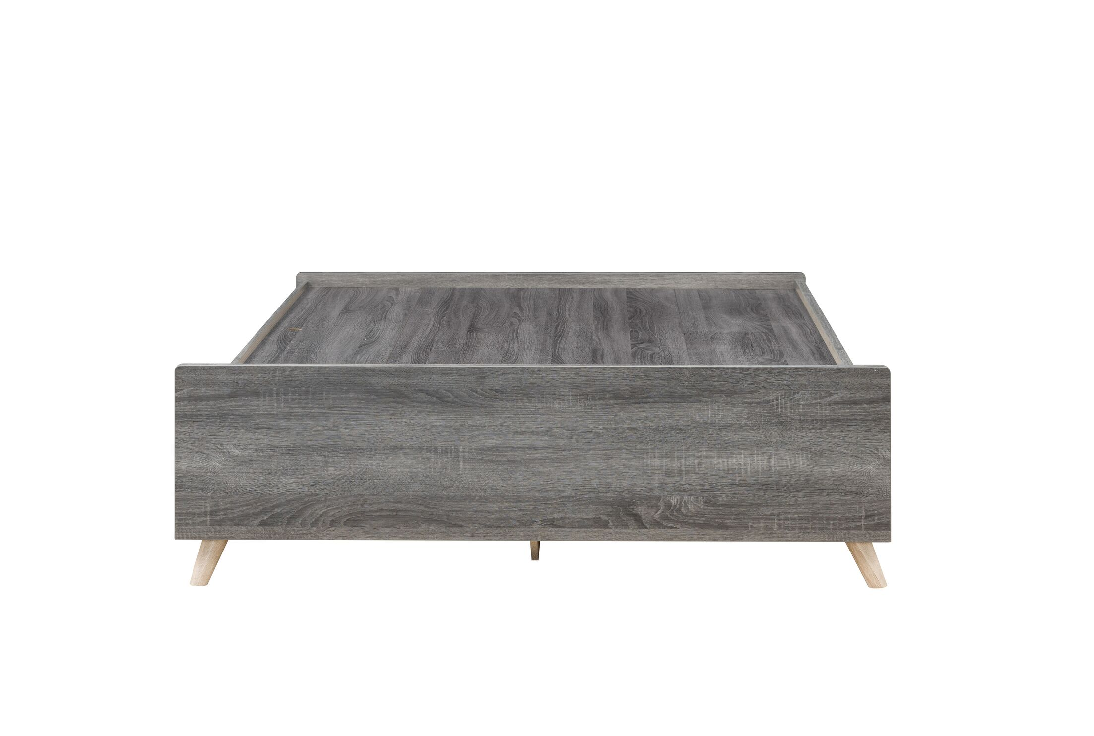Urick Platform Bed with Drawer Color: Distressed Gray, Size: Full