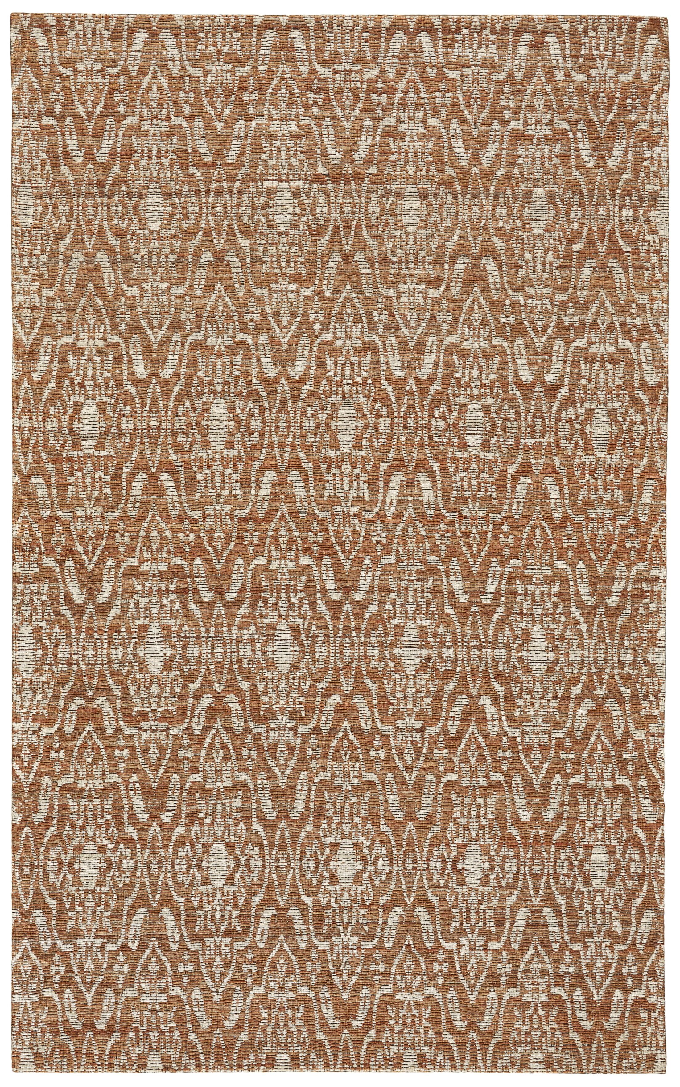 Reich Hand-Woven Rust Area Rug Rug Size: Rectangle 8' x 11'