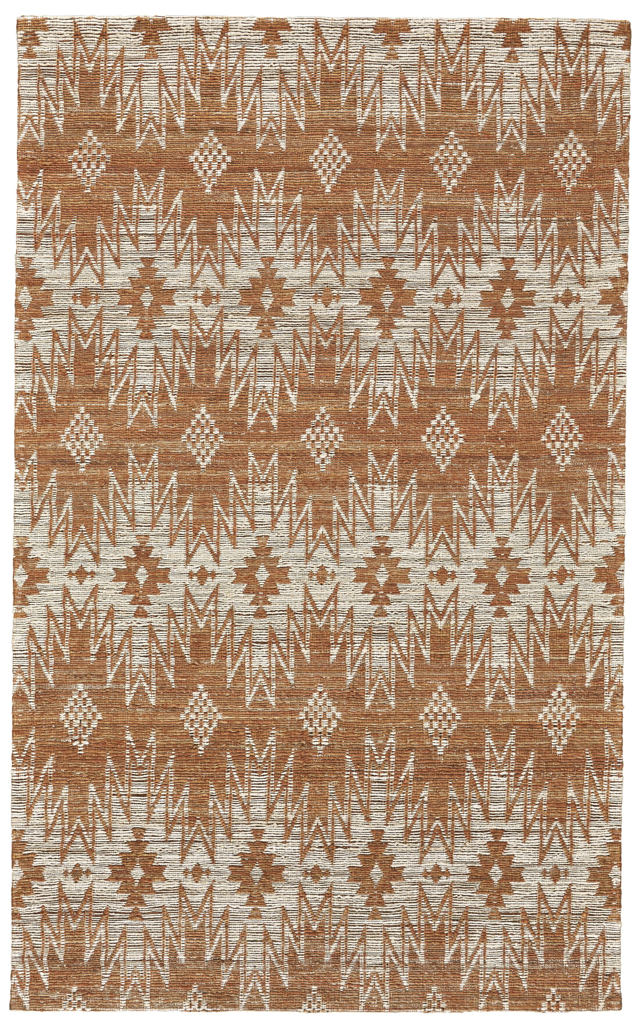 Reich Hand-Woven Rust Area Rug Rug Size: Rectangle 9'6