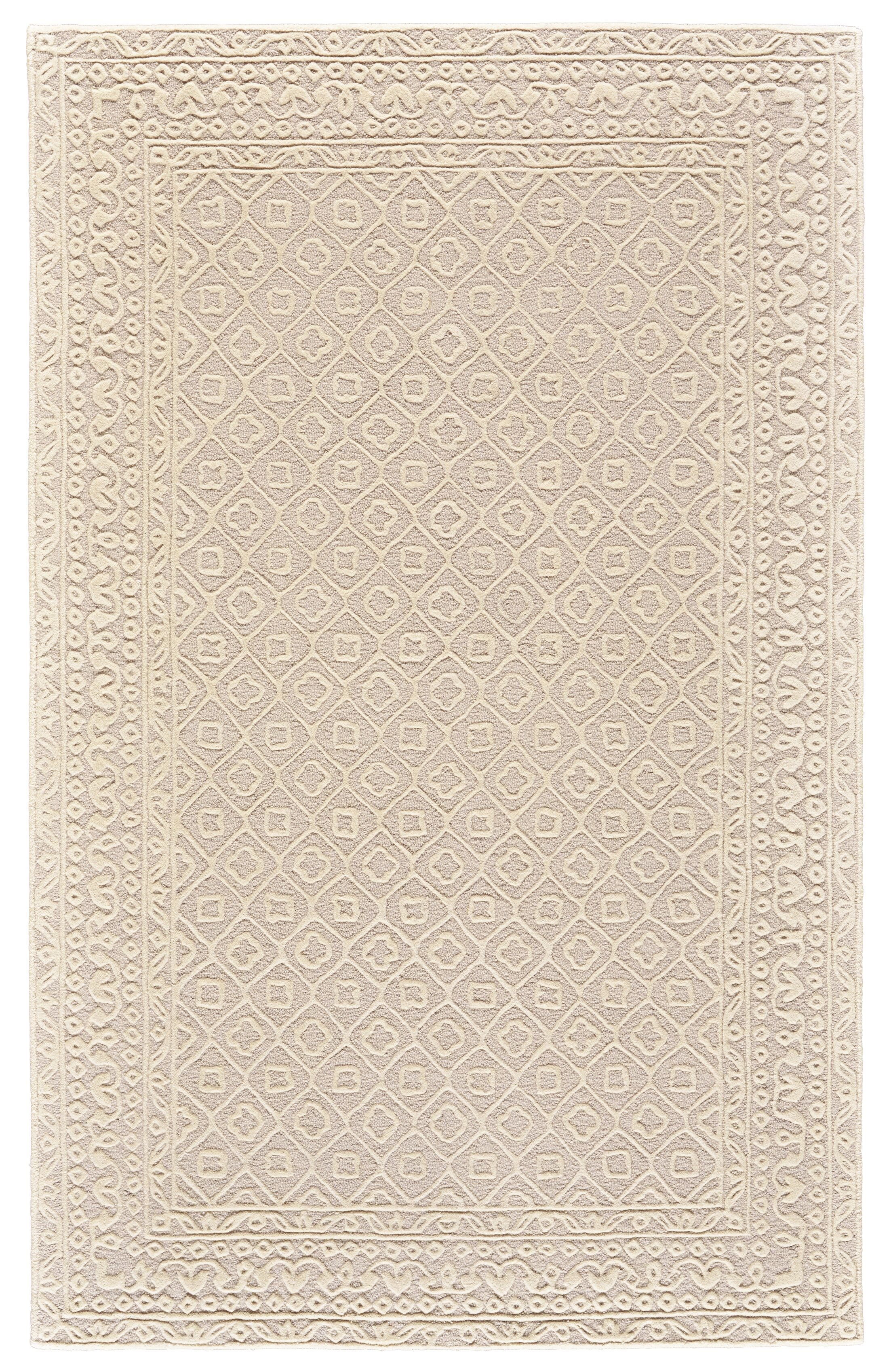 Griego Hand-Tufted Wool Light Beige/Ivory Area Rug Rug Size: Rectangle 5' x 8'