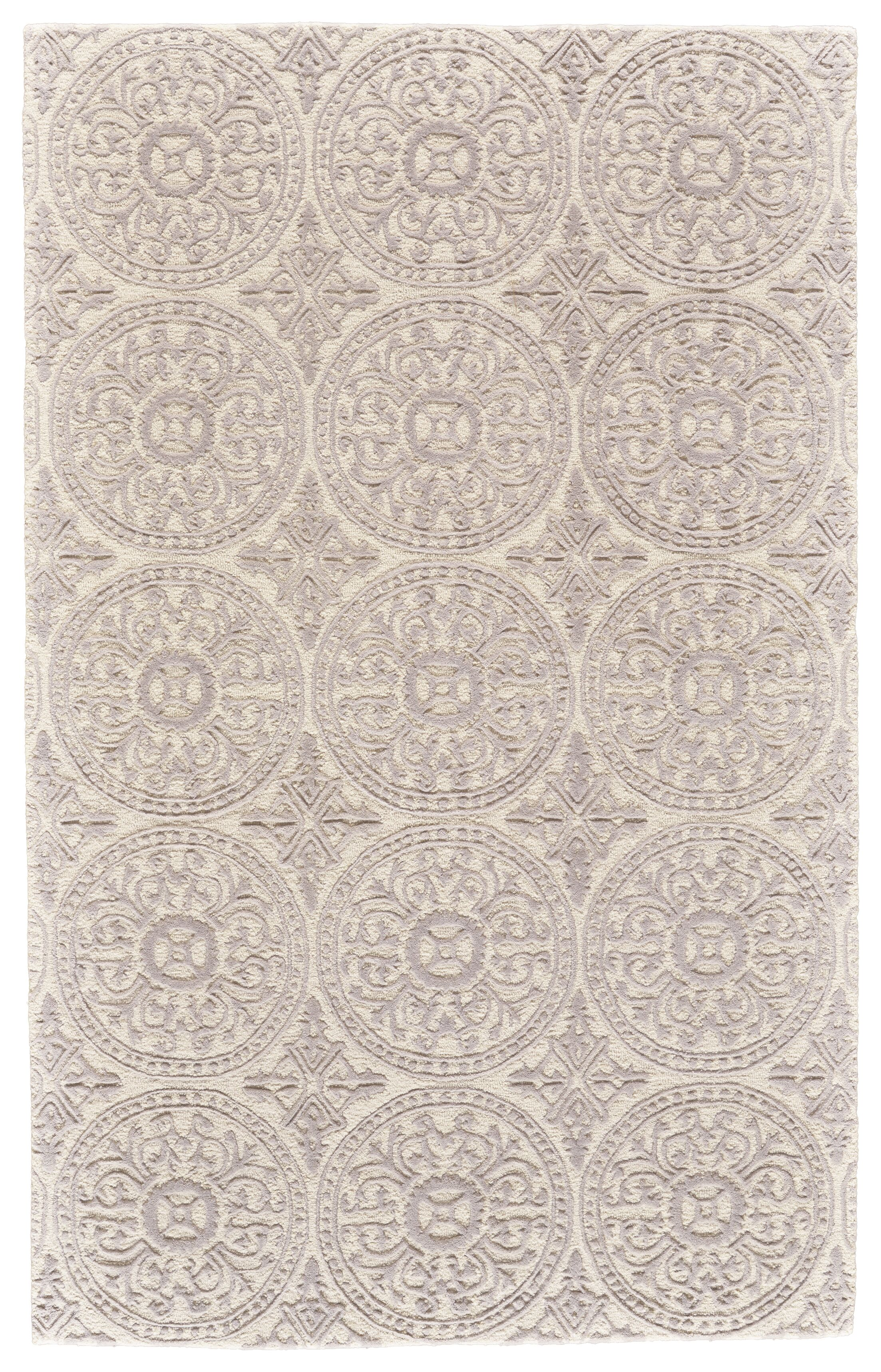 Griego Hand-Tufted Wool Ivory/Light Gray Area Rug Rug Size: Rectangle 3'6