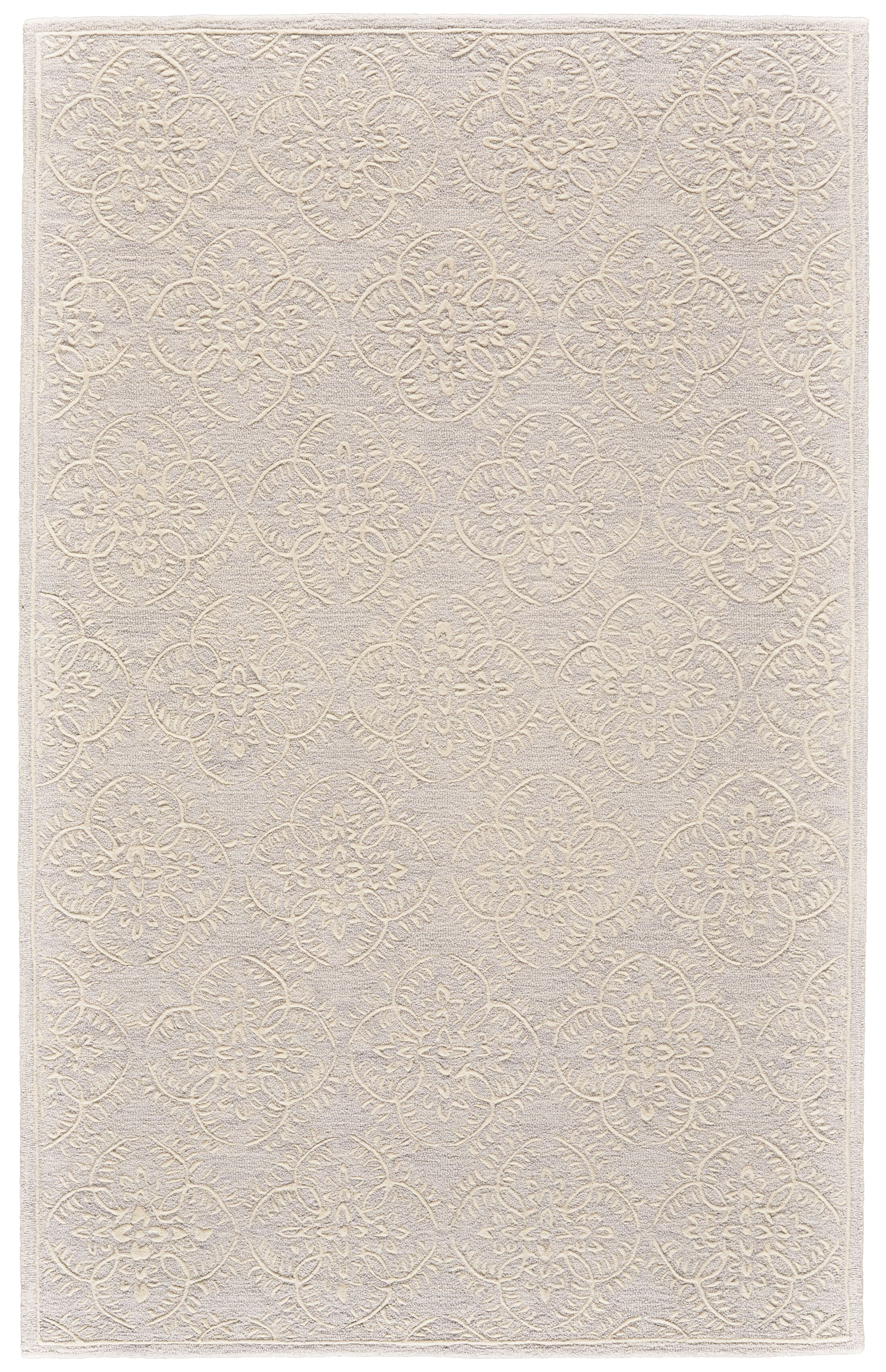 Griego Hand-Tufted Wool Light Gray/Ivory Area Rug Rug Size: Rectangle 3'6