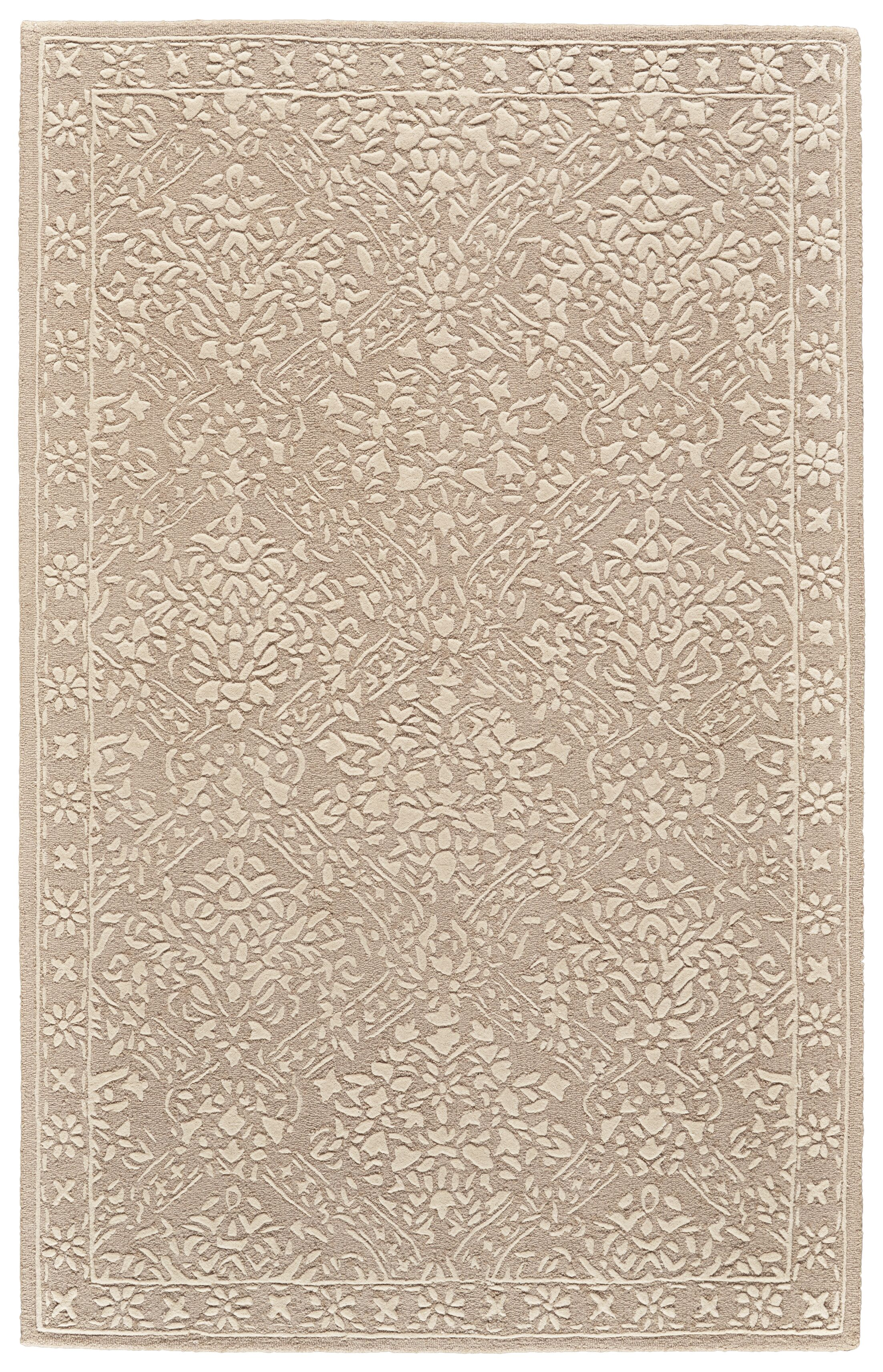Griego Hand-Tufted Wool Beige/Ivory Area Rug Rug Size: Rectangle 3'6