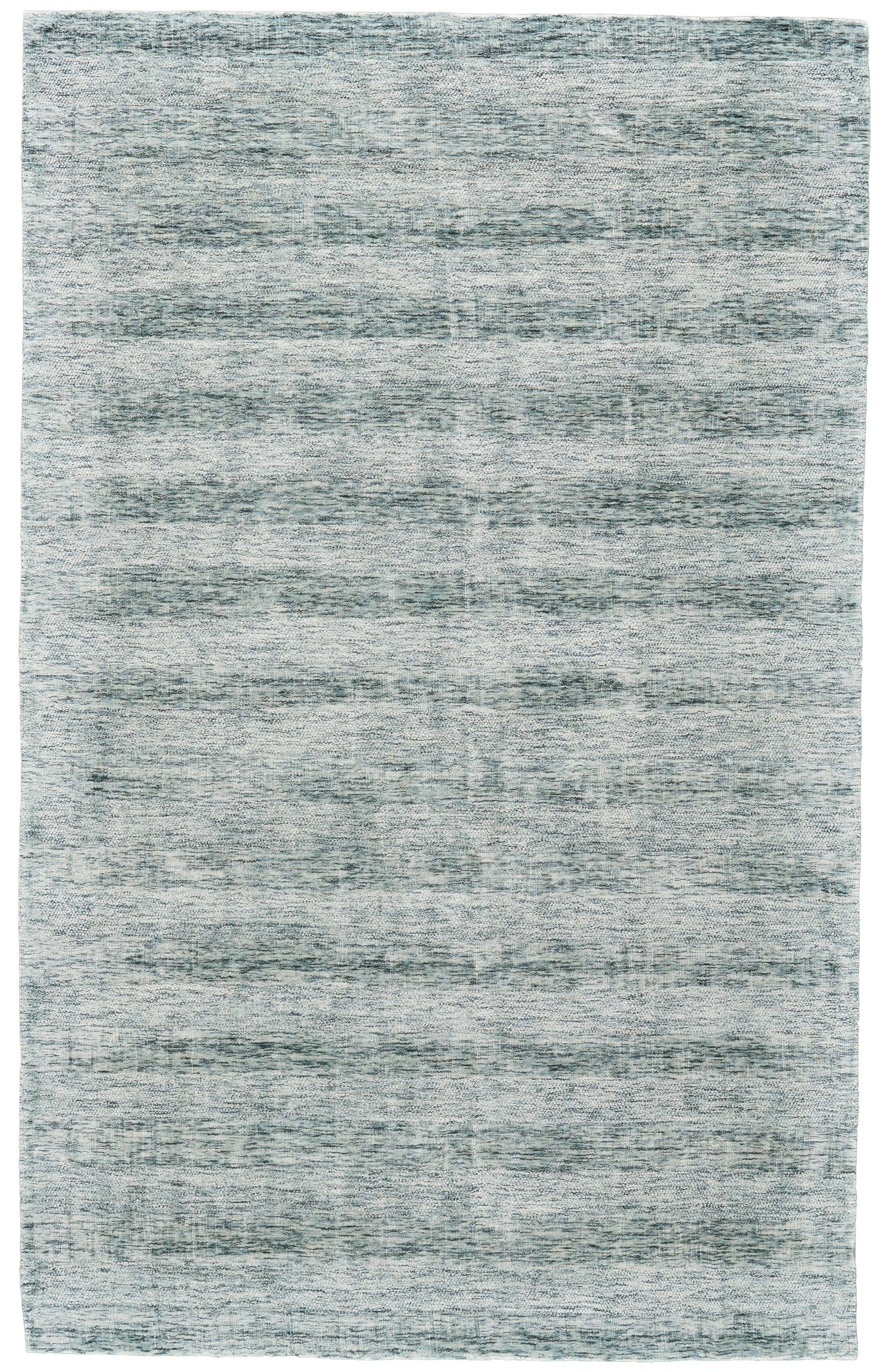 Whiten Hand-Woven Aqua Area Rug Rug Size: Rectangle 9'6