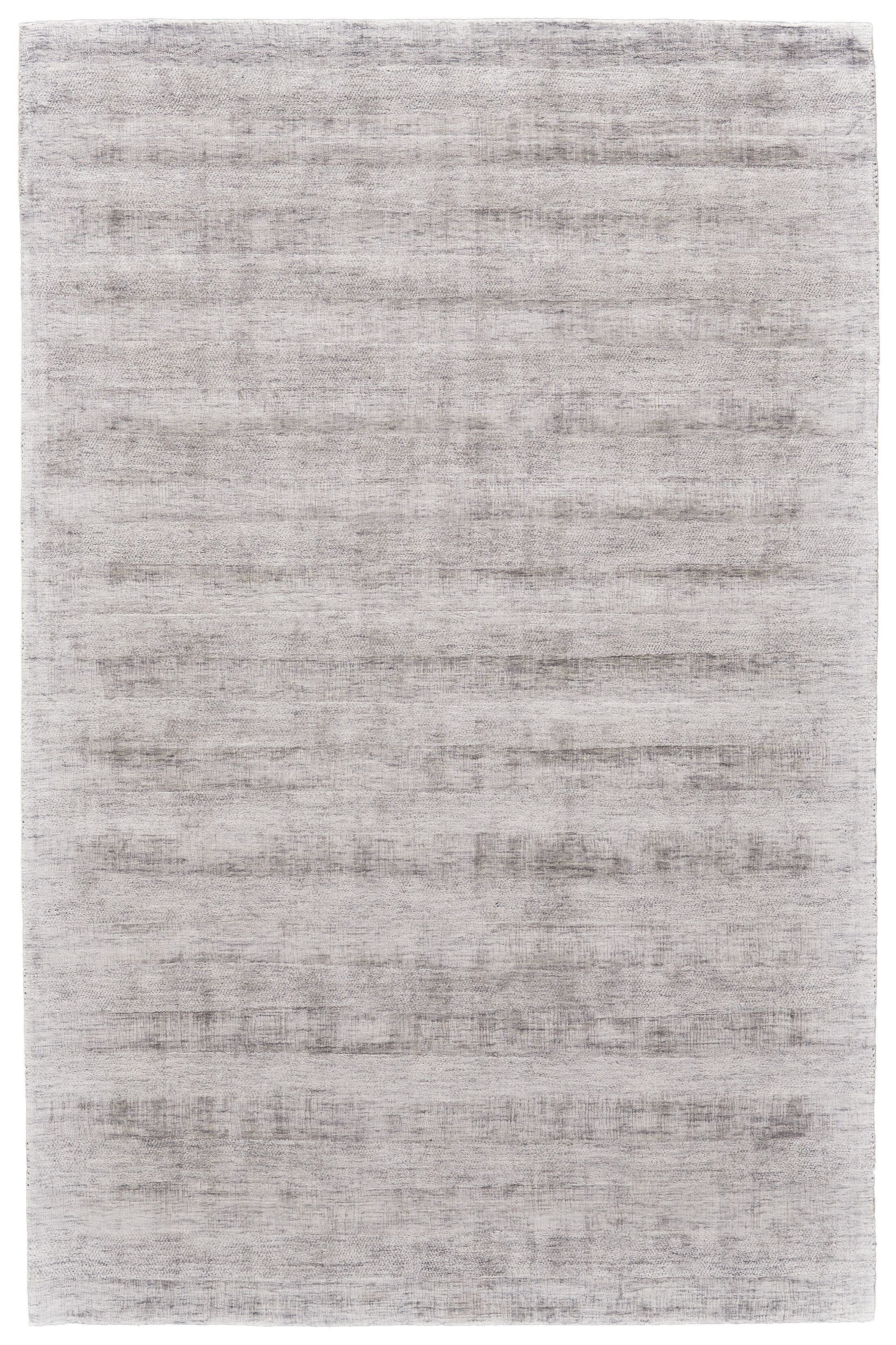 Pilning Hand-Woven Silver Area Rug Rug Size: Rectangle 5' x 8'