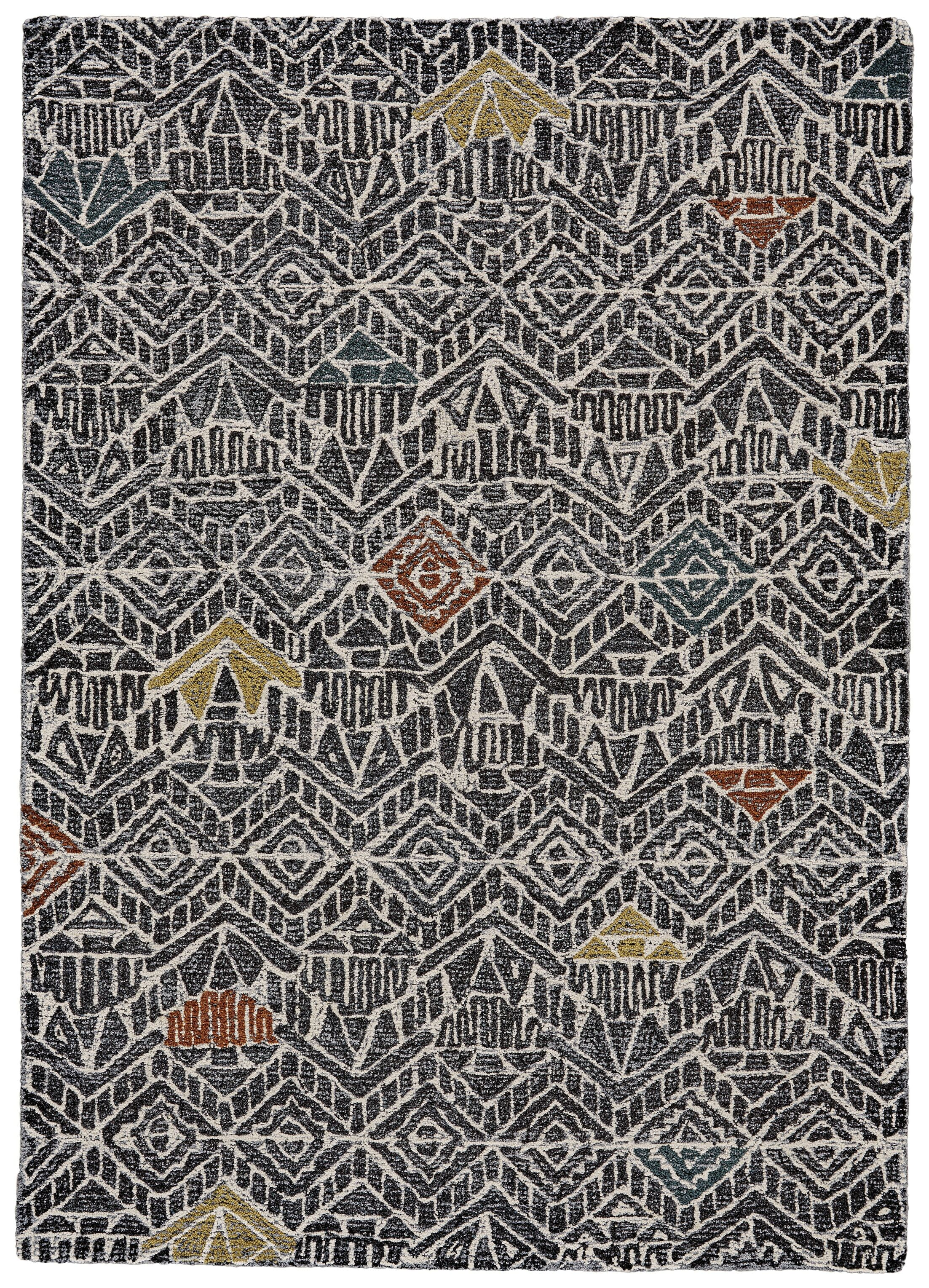 Reger Hand-Tufted Wool Charcoal Area Rug Rug Size: Rectangle 5' x 8'