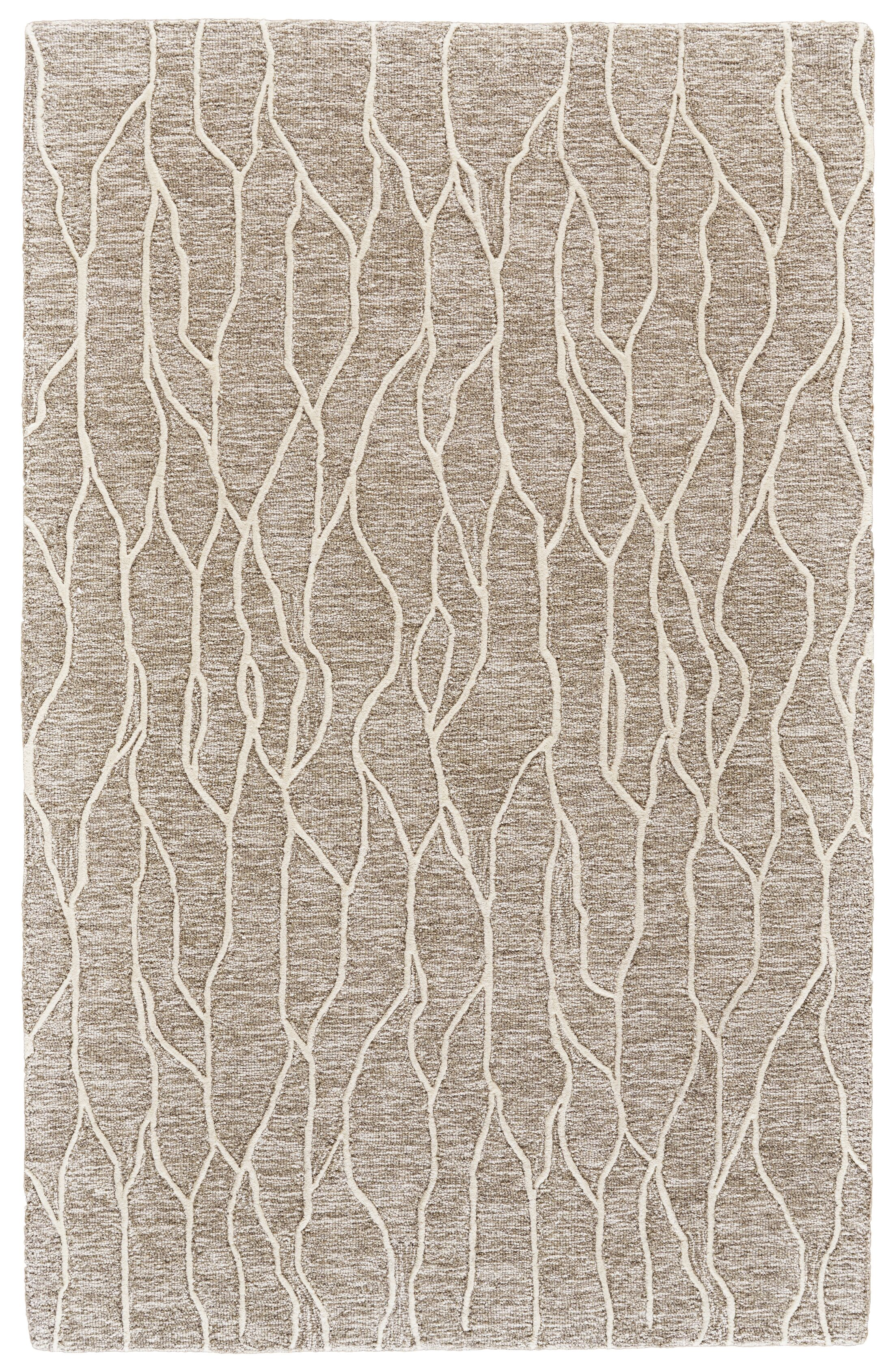Grider Hand-Tufted Wool Ivory/Gray Area Rug Rug Size: Rectangle 3'6