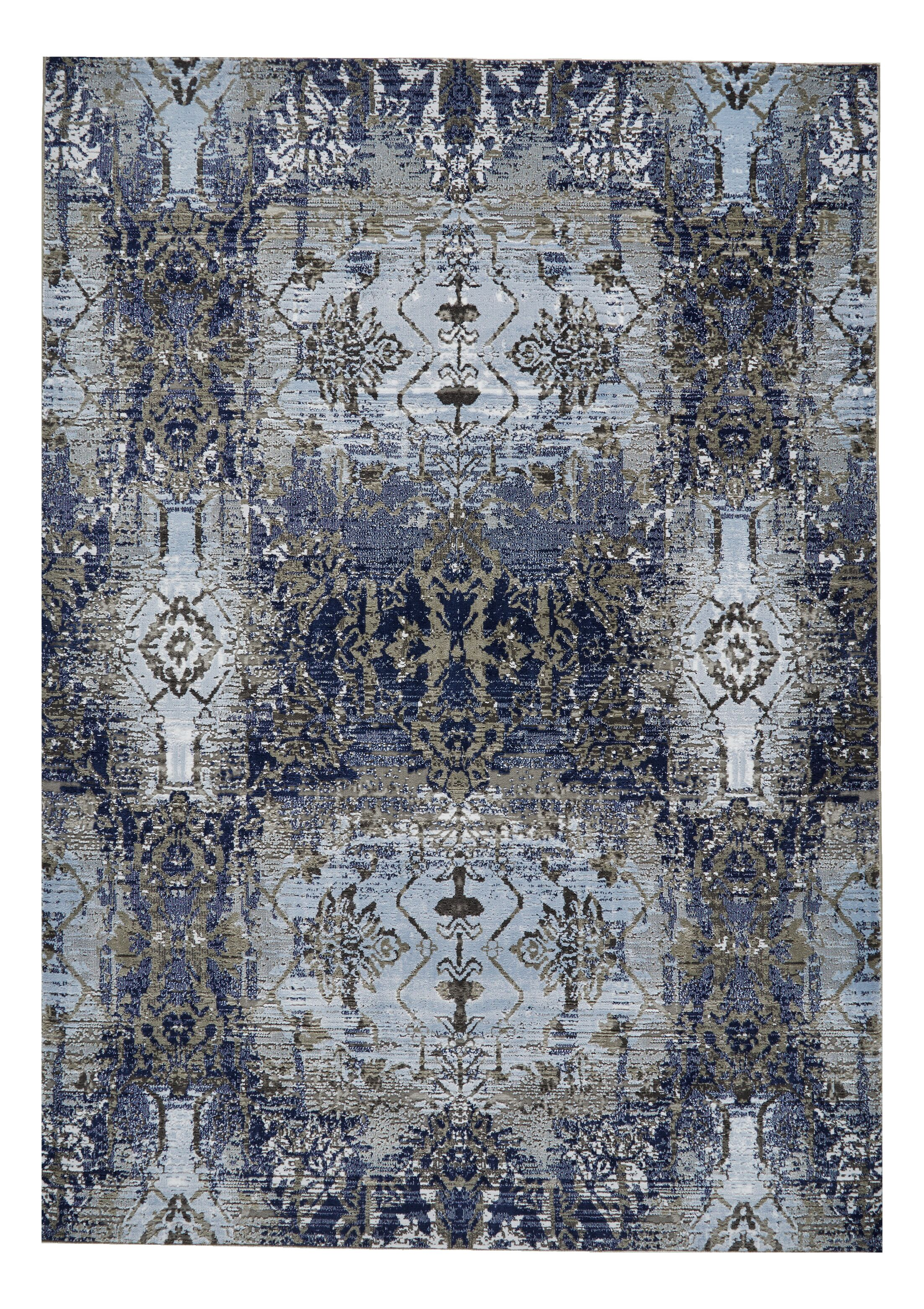 Grossman Light Blue/Sterling Area Rug Rug Size: Rectangle 5'2