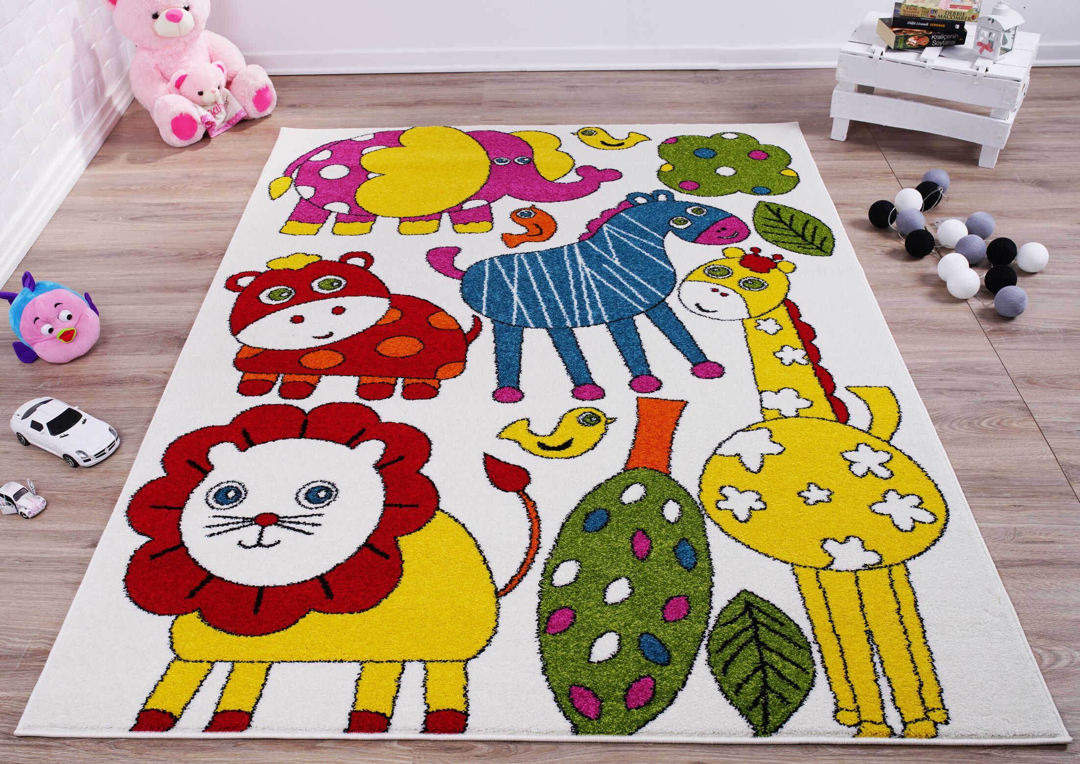 Kindig Animals Red/Yellow Area Rug Rug Size: Rectangle 3'11