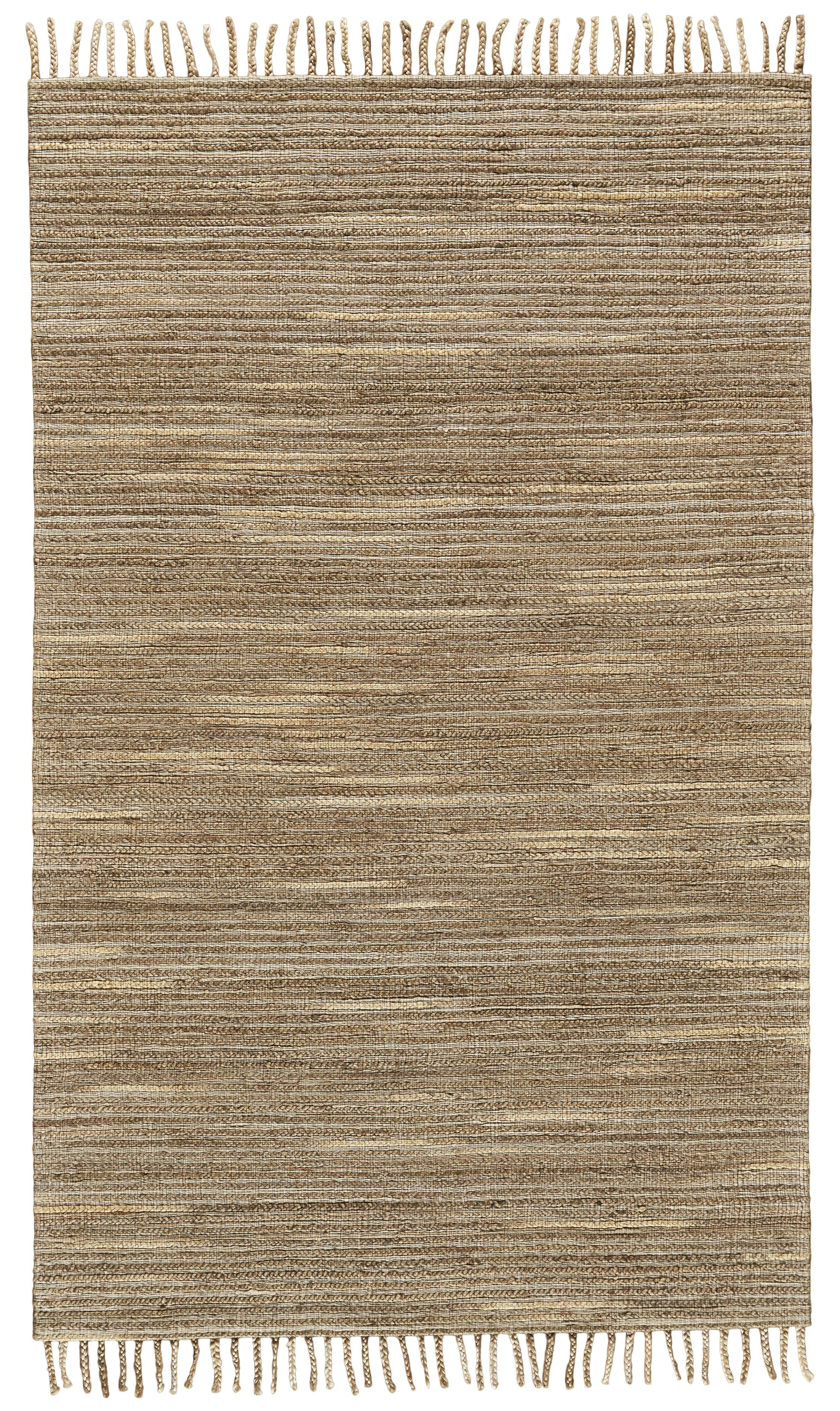 Reichert Hand-Woven Brown Area Rug Rug Size: Rectangle 5' x 8'